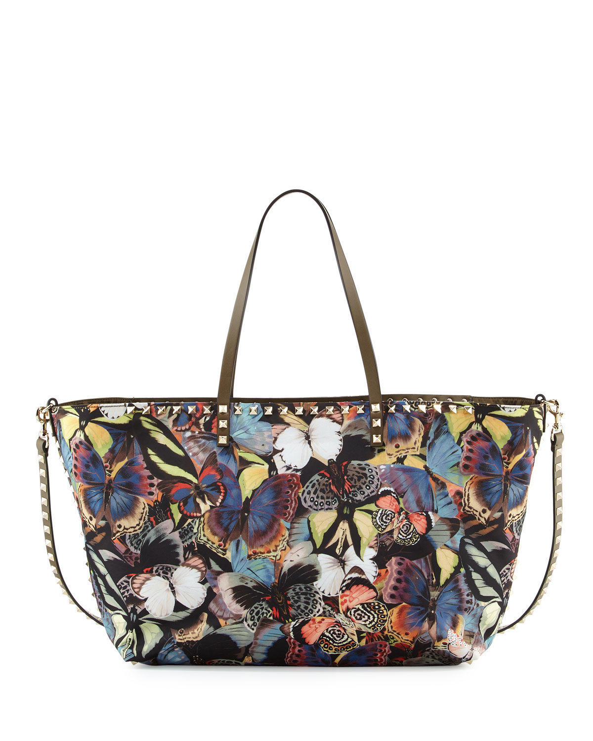 5ab37f90d0 Valentino Camu Butterfly Printed Nylon Tote Bag - Lyst