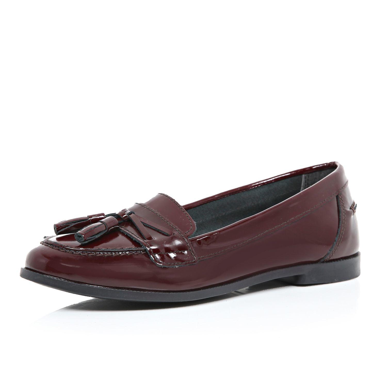 River Patent In Purple Island Dark Lyst Loafers Tassel Red Leather GUSzpqMV