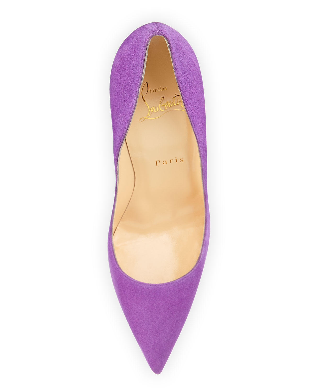Christian louboutin So Kate Suede Red Sole Pump in Purple ...