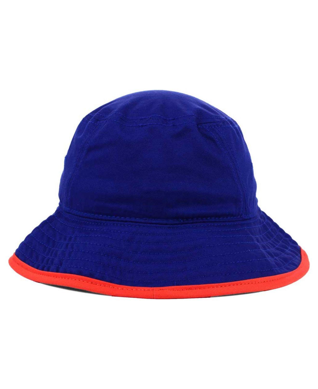 new concept e8dae 7b663 ... uk lyst ktz new york islanders basic tipped bucket hat in blue for men  920fd 7febc
