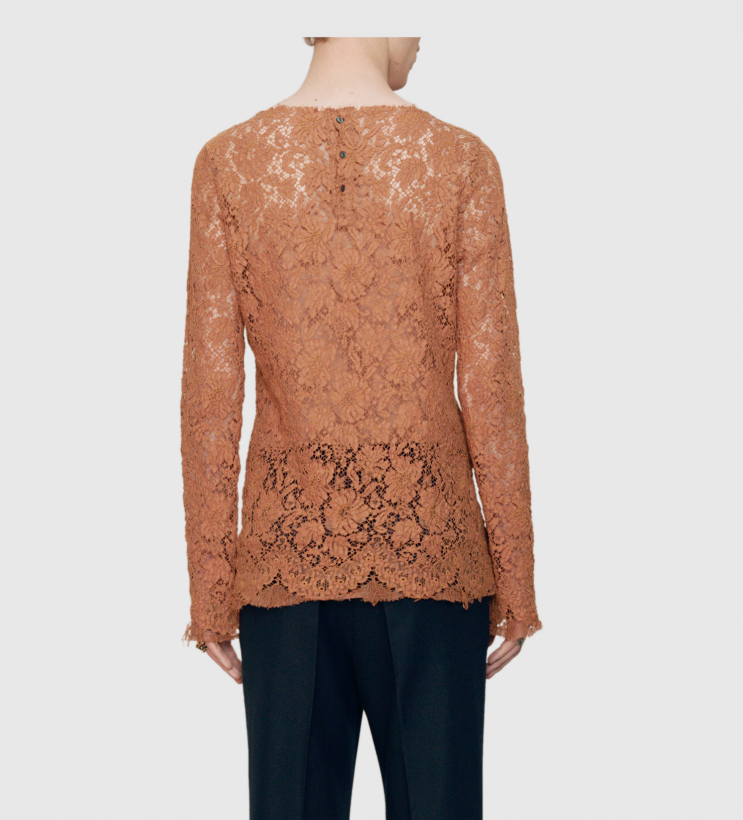 26d67eebf1 Lyst - Gucci Cotton Lace Shirt in Brown for Men