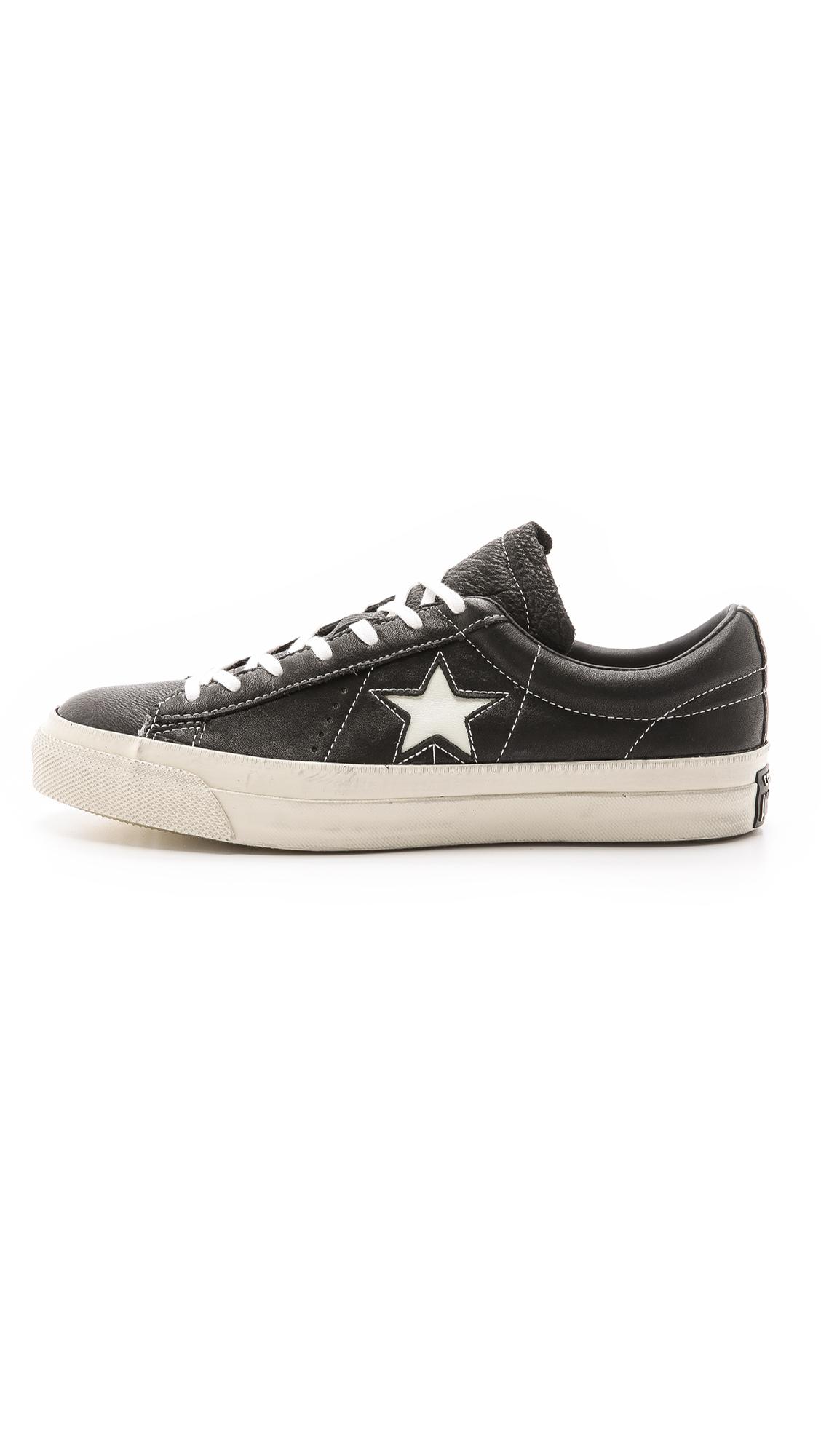 Lyst - Converse John Varvatos One Star Sneakers in Black for Men 1eab44009