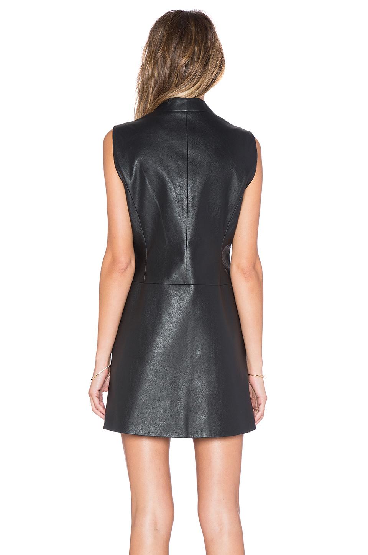 Lyst Bcbgmaxazria Caryn Faux Leather Wrap Dress In Black