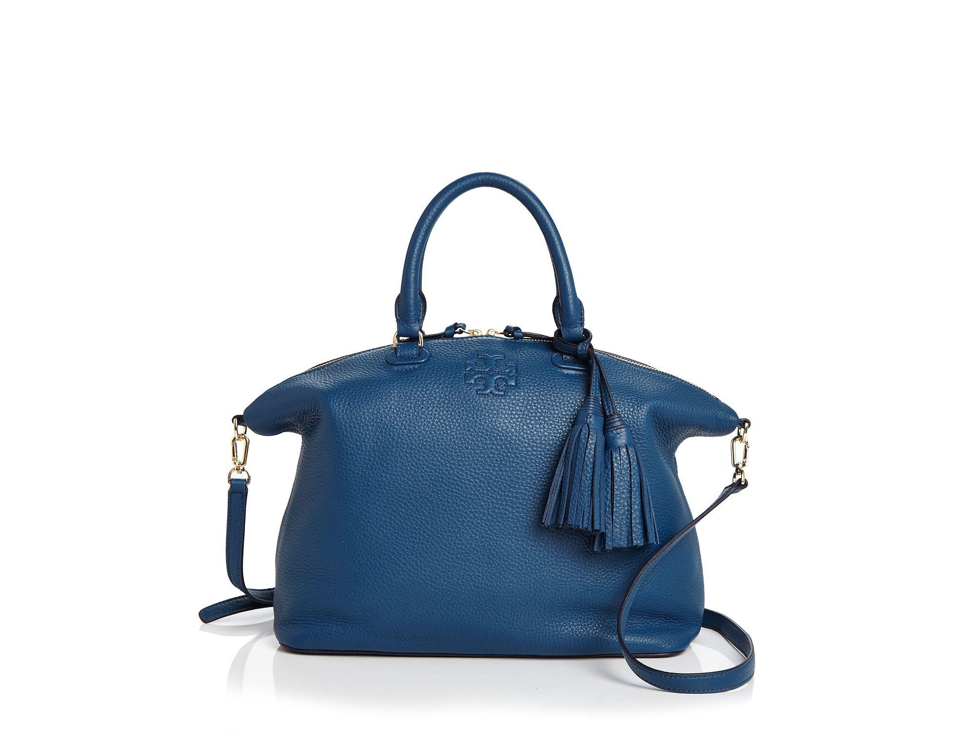 b07fc753be8 Lyst - Tory Burch Thea Medium Slouchy Satchel in Blue