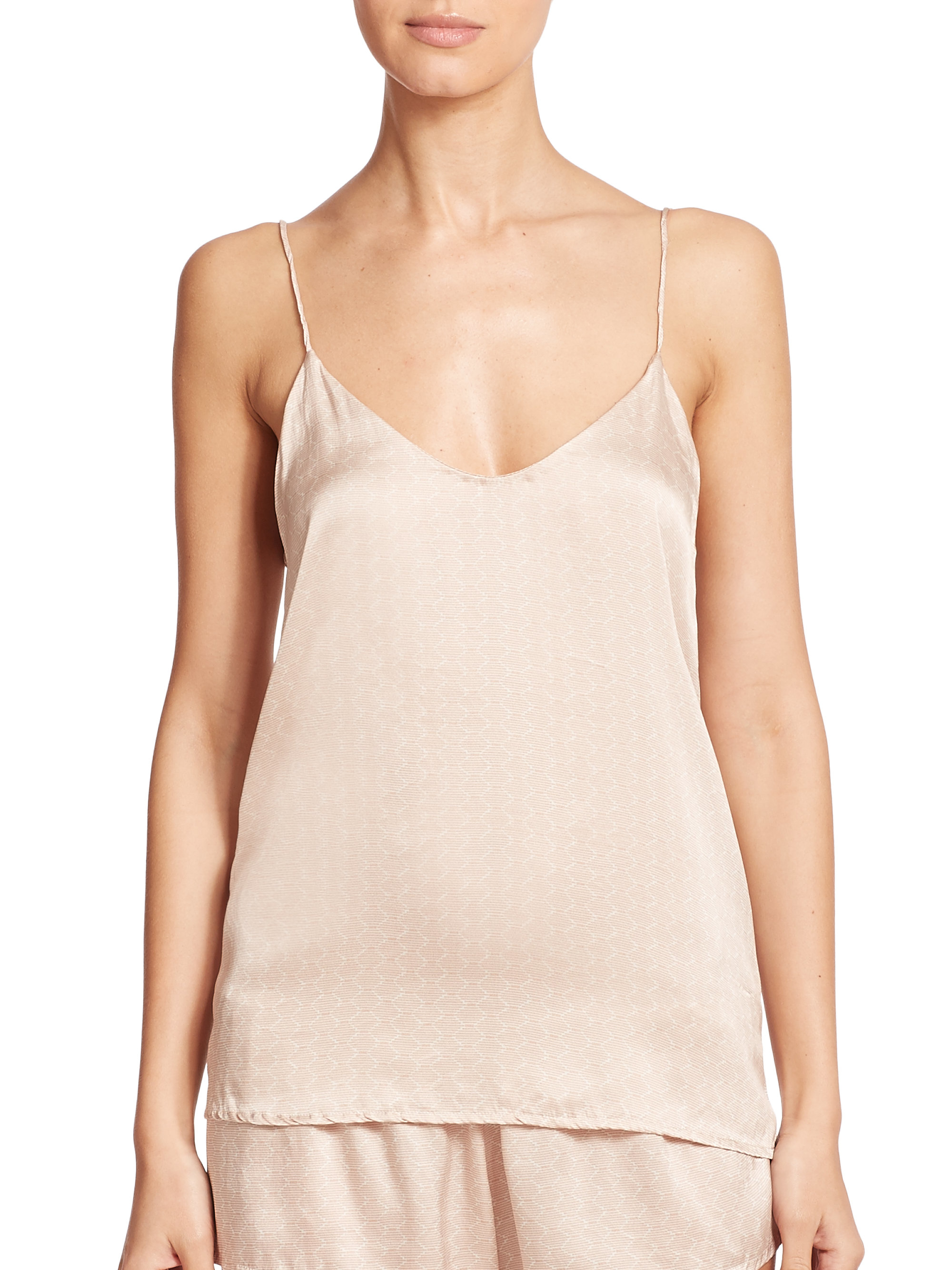 Lyst - Beautiful Bottoms Simple Silk Camisole In Natural-3541
