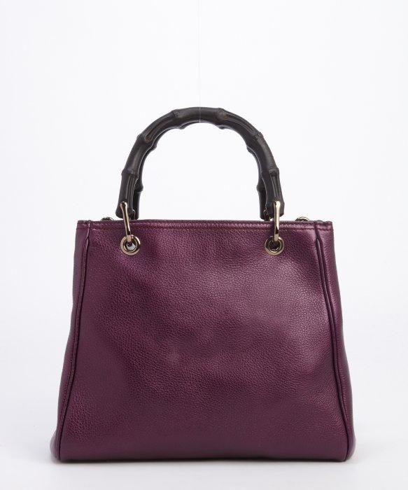 0de83a13a4f9 ... Best Purple Totes: Gucci Purple Metallic Leather Convertible Top Handle  Tote