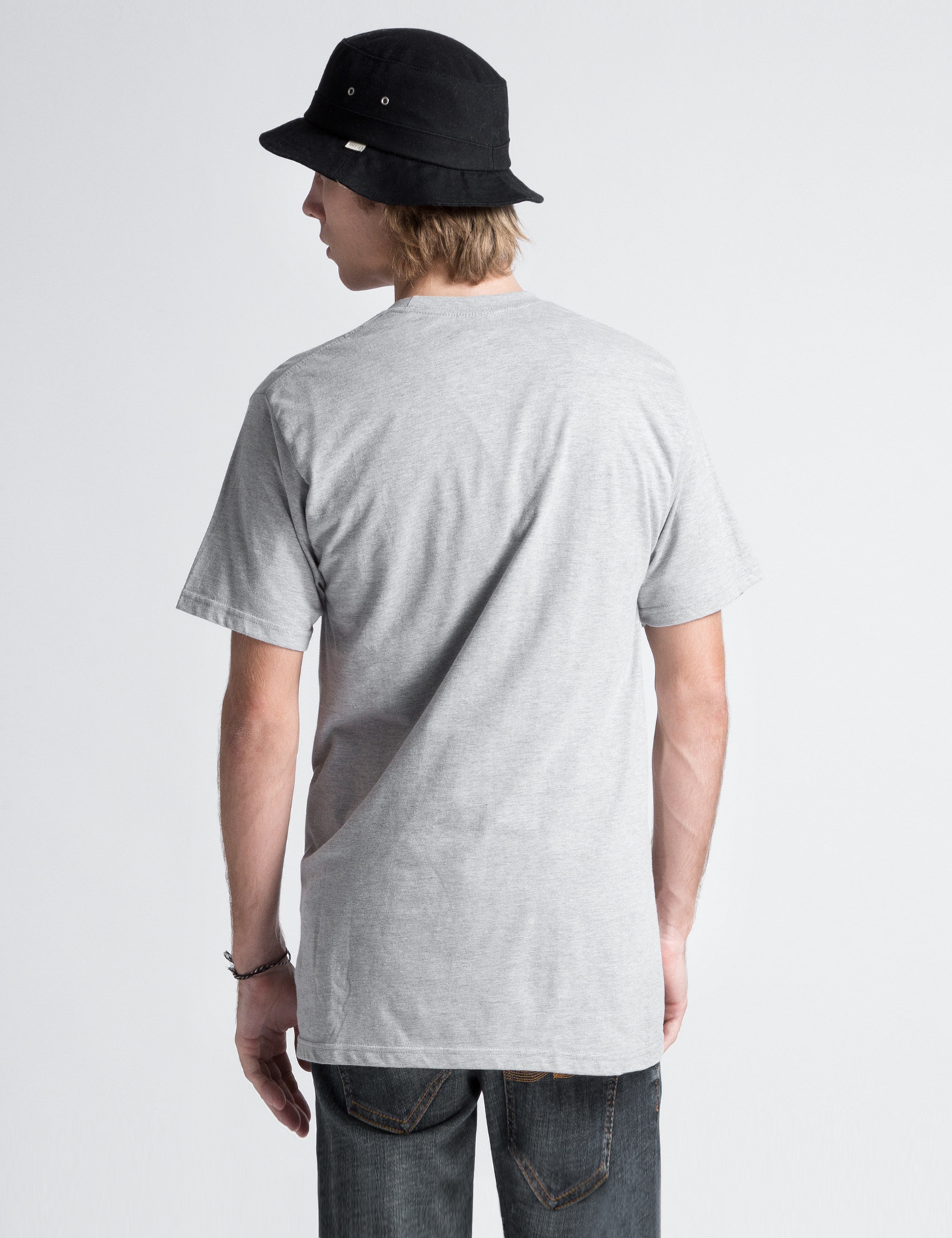 Stussy heather grey stock t shirt in gray for men grey Mens heather grey t shirt