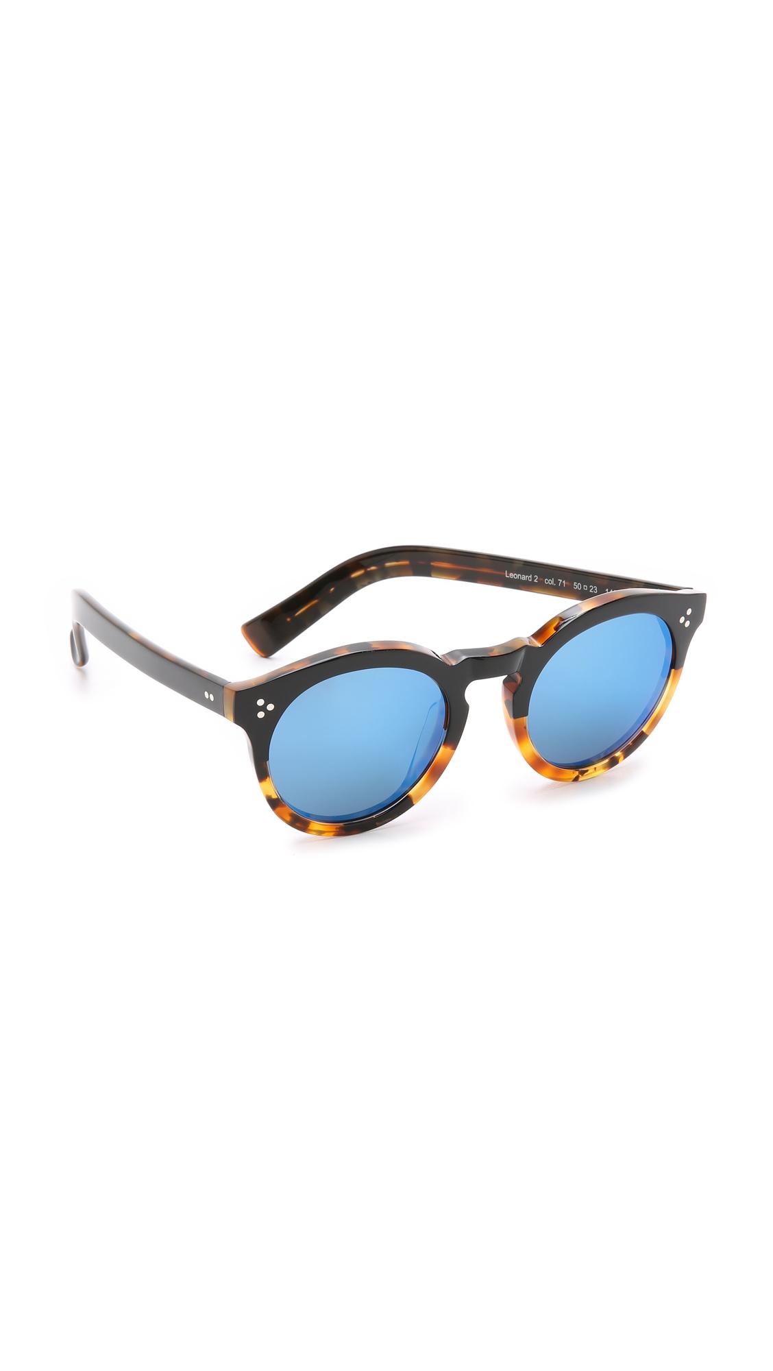 67799c7acc4 Illesteva Leonard Ii Half And Half Mirrored Sunglasses - Black Light ...