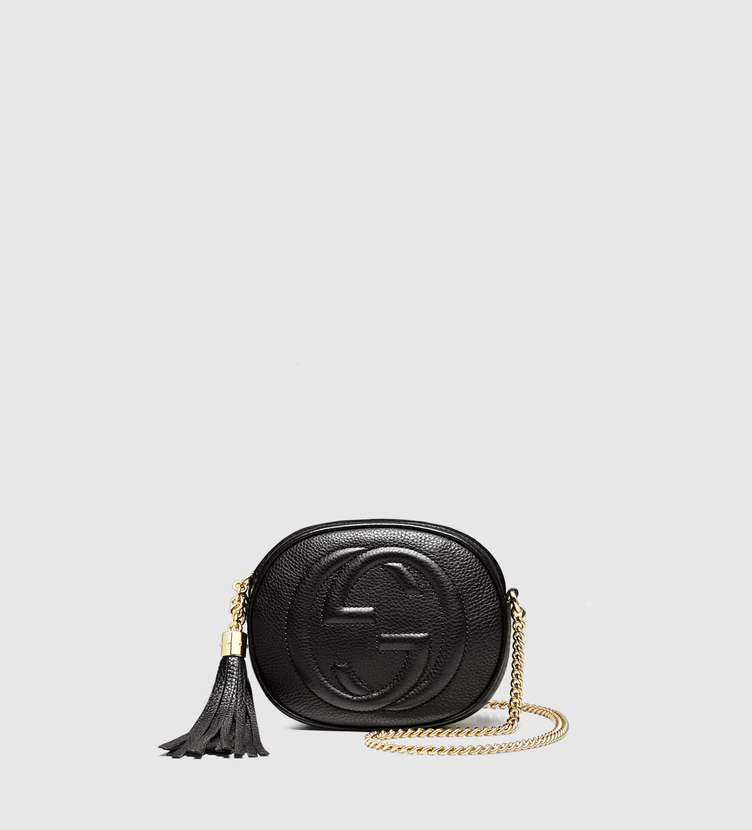 c72a2d7e64a7 Gucci Soho Leather Mini Chain Bag in Black - Lyst