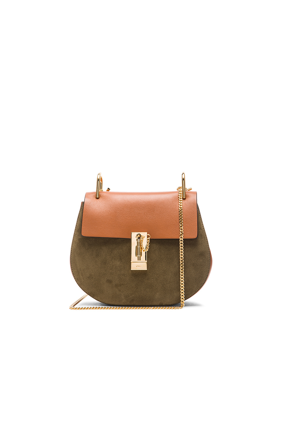 0b7a46cd122 Chloé Small Drew Suede & Leather Bag in Brown - Lyst