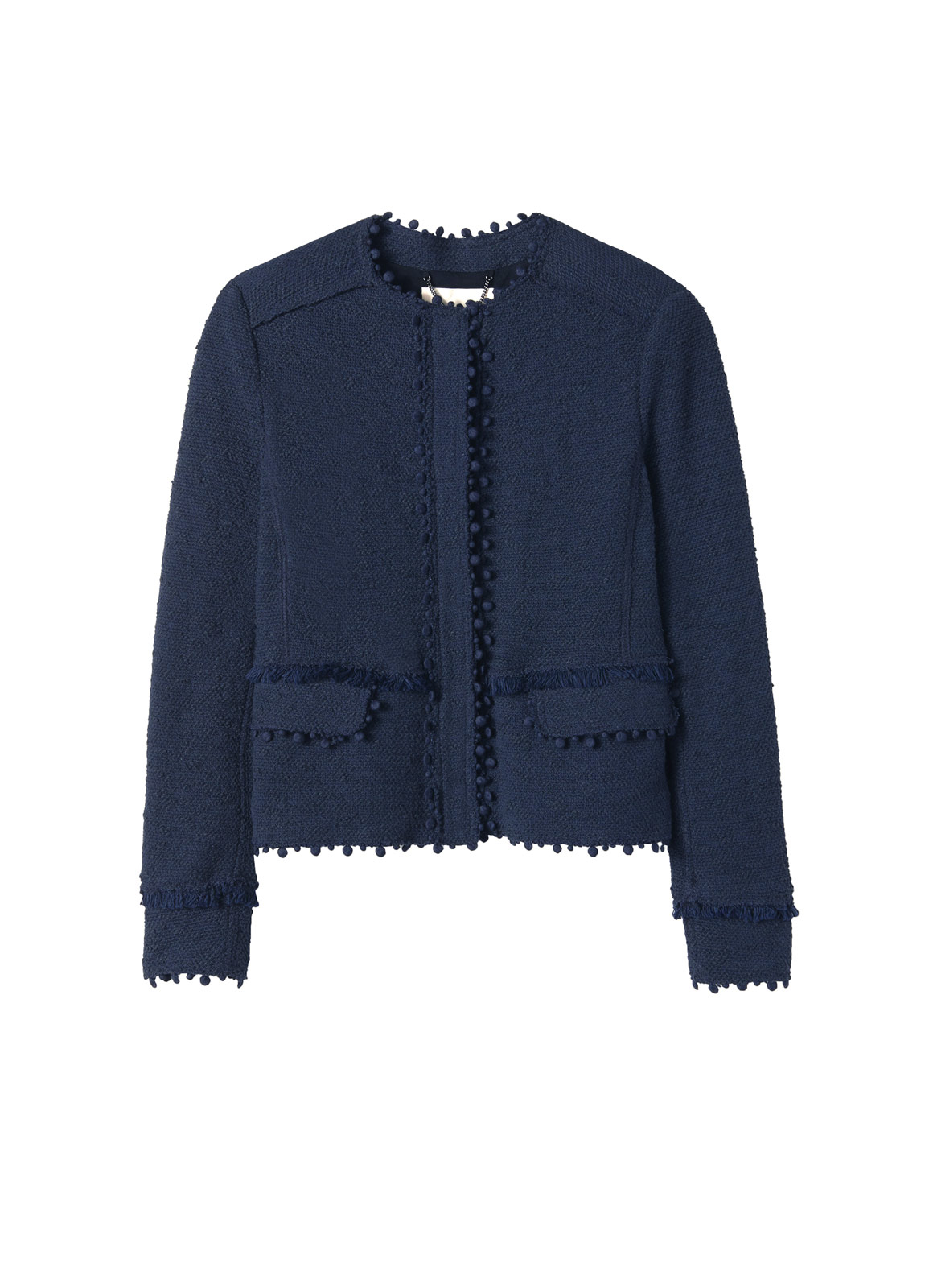 Lyst Rebecca Taylor Stretch Boucle Jacket In Blue