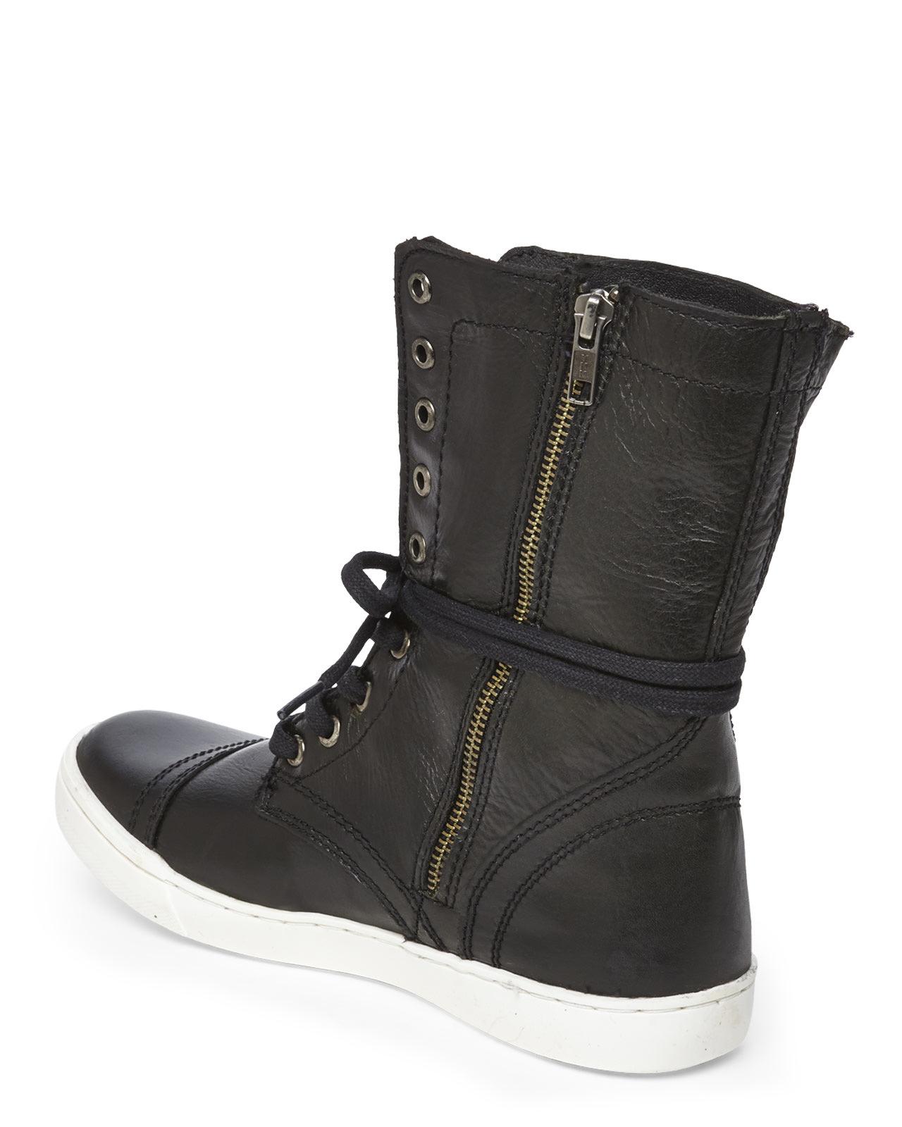 c8f23d014c6 Lyst - Steve Madden Black Resolvve Sneaker Boots in Black