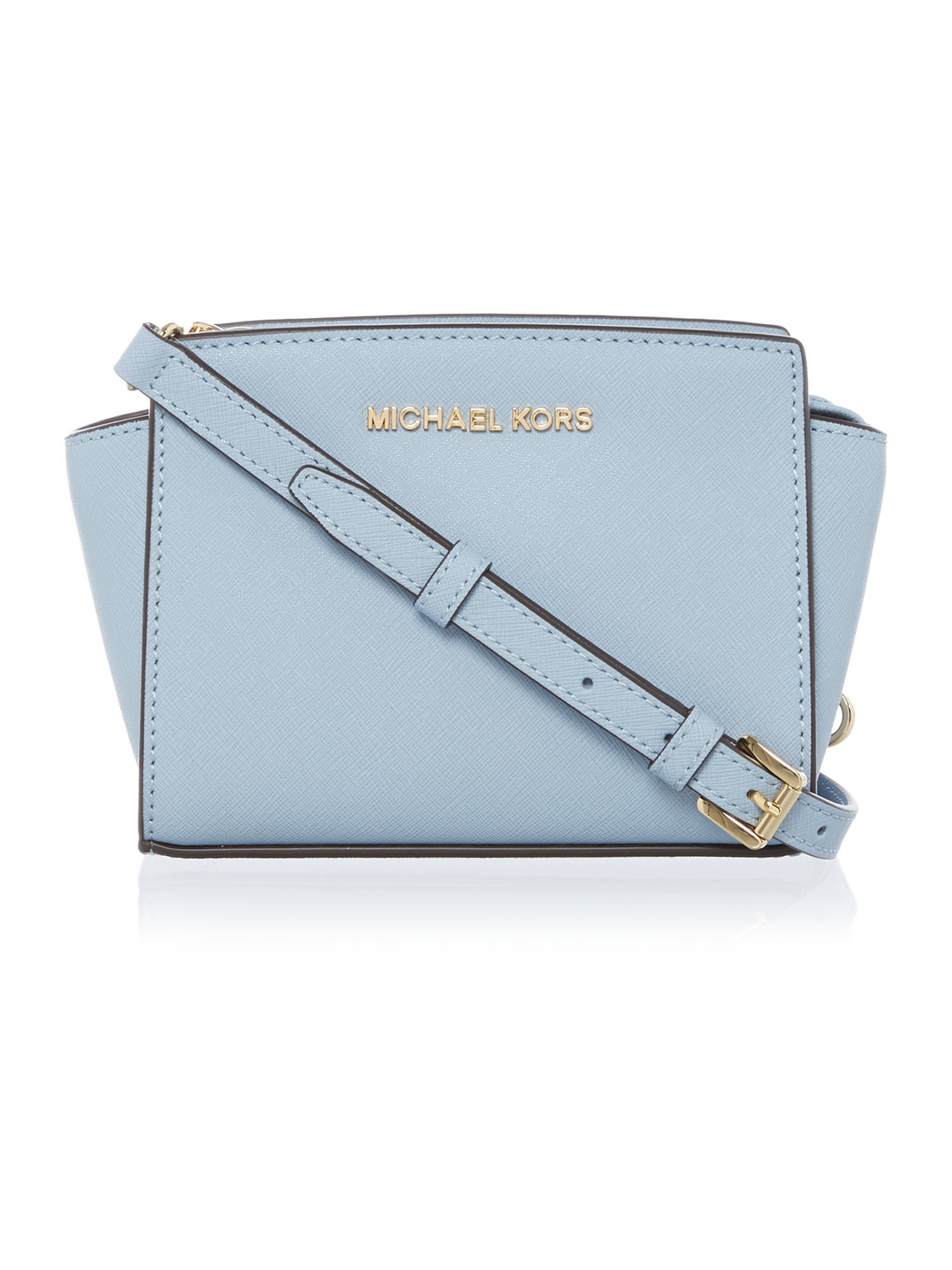 731c5ea4627 michael kors pale blue crossbody bags Gia Leather Large Totes ...