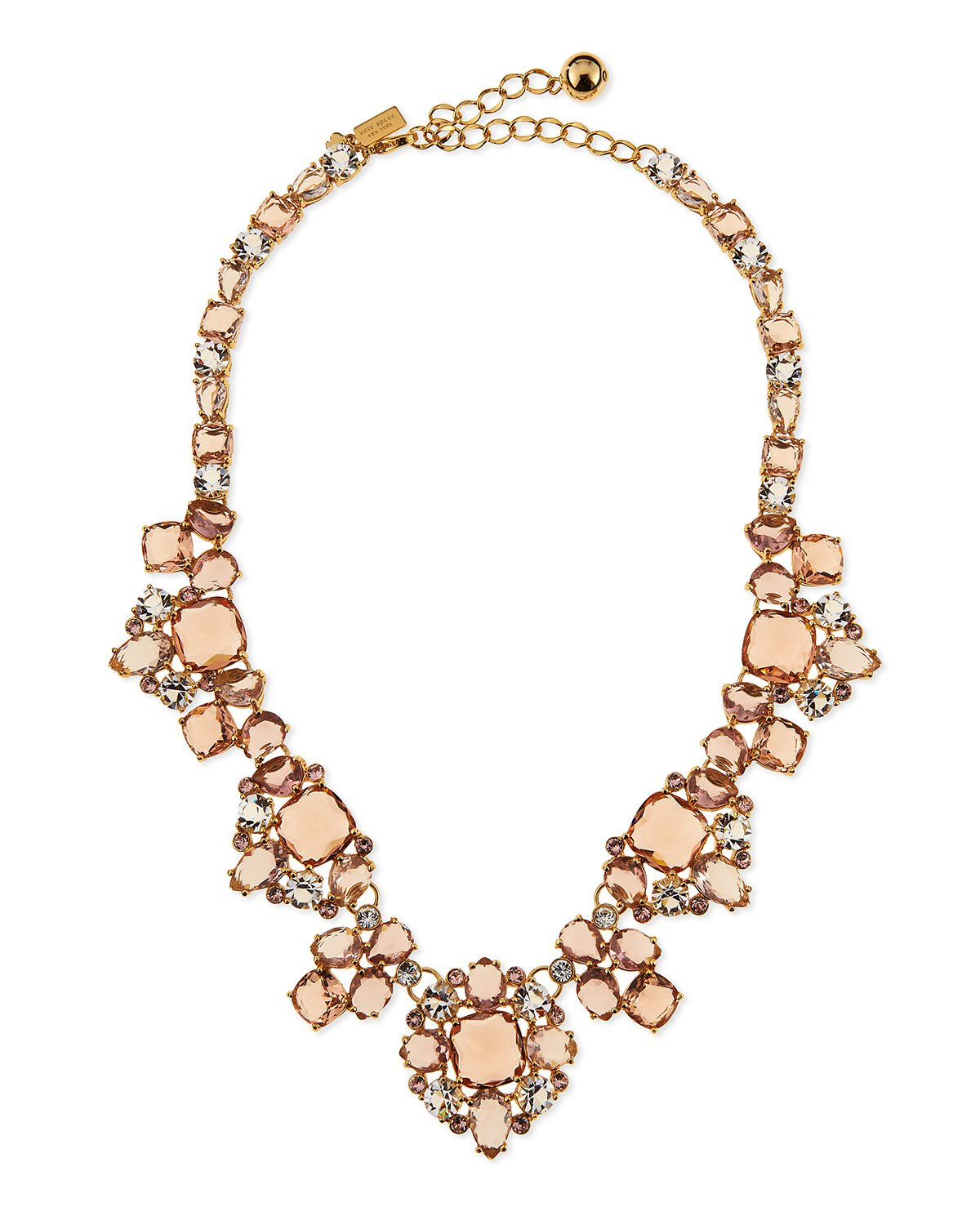 Kate spade new york Make Me Blush Crystal Statement Necklace in ...