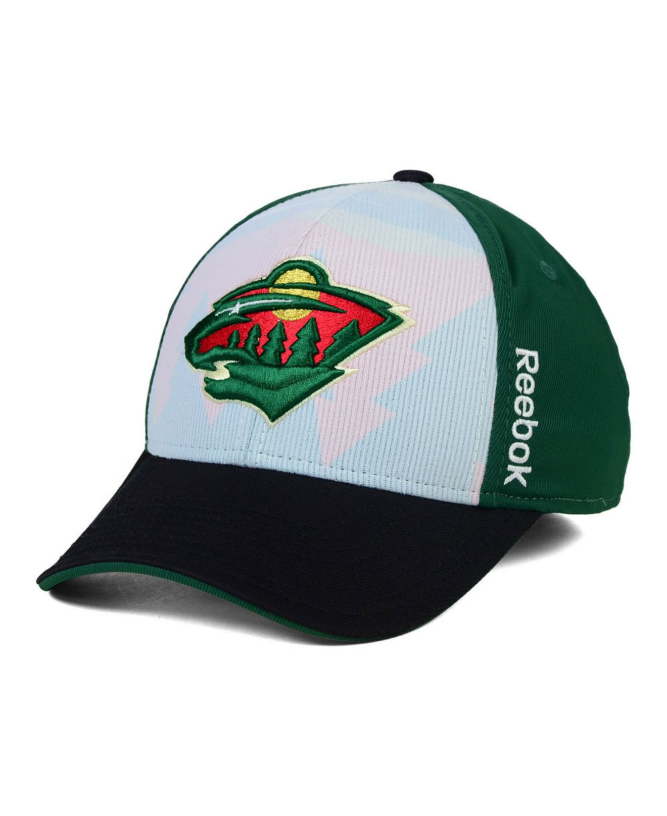 new style cd4d0 fb2fa ... amazon lyst reebok minnesota wild stretch fit cap in green for men  e2bc8 8e38e store philadelphia union adidas ...