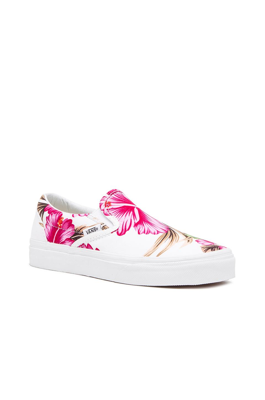 fde1ea14c165 Lyst - Vans Classic Hawaiian Floral Slip On Sneaker in Pink
