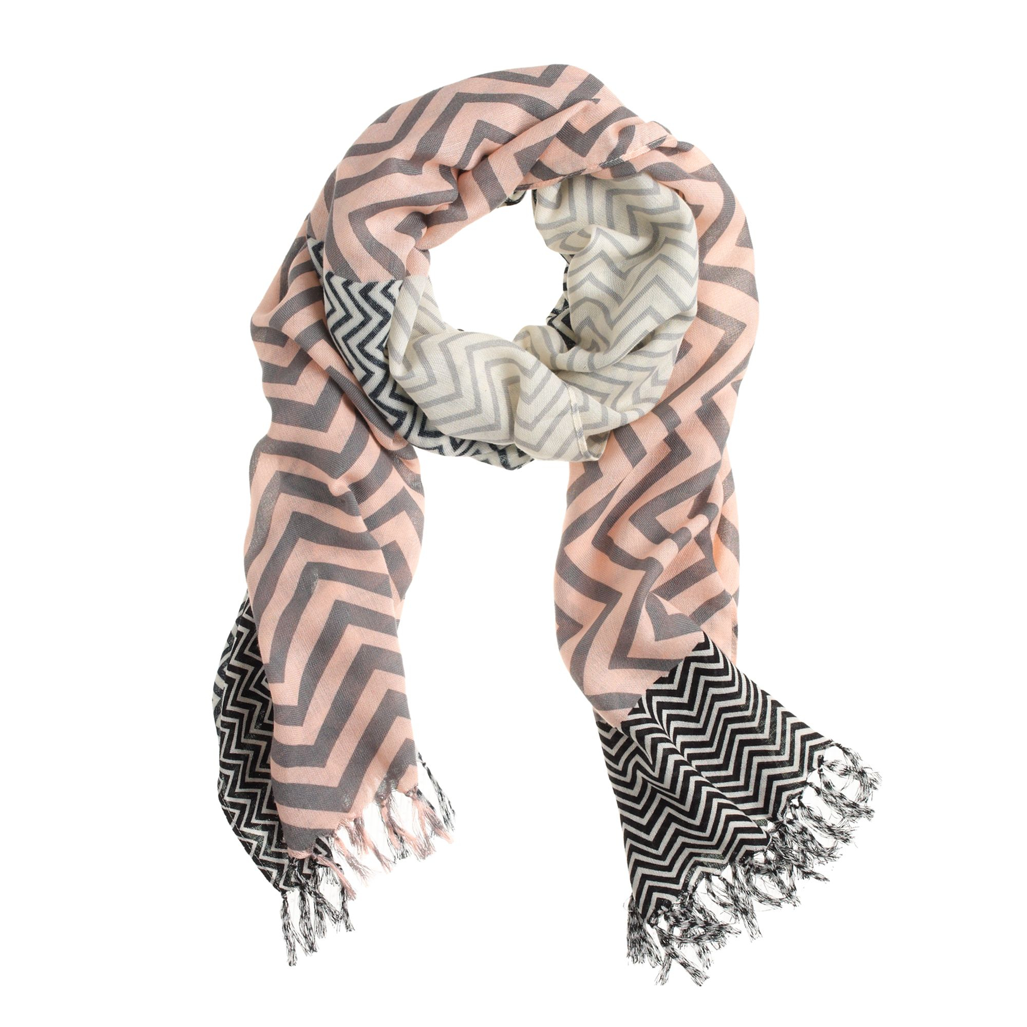 j crew patchwork stripe scarf in multicolor multi