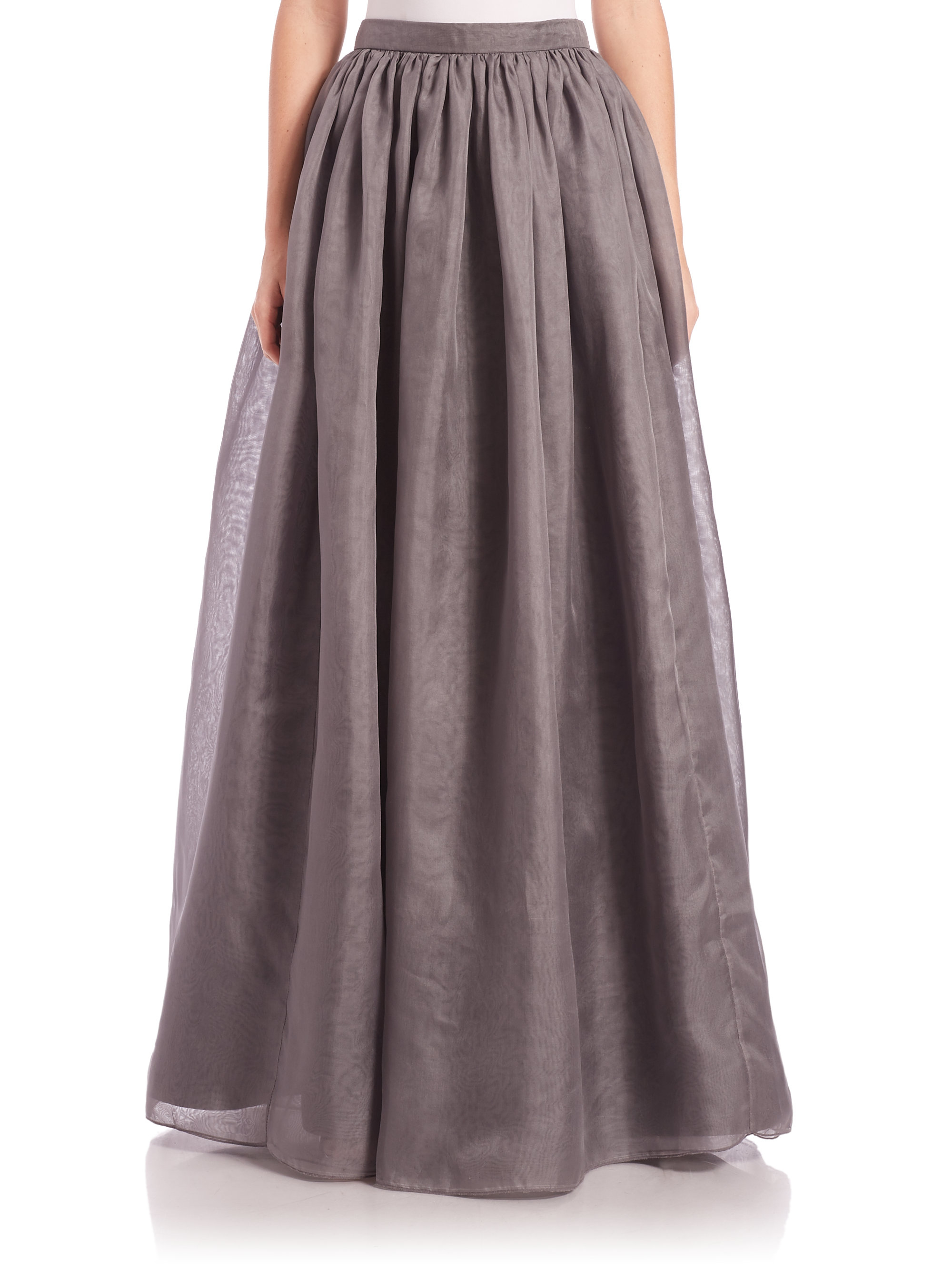 Lyst - Alice + Olivia Abella Silk Ball-gown Skirt in Gray