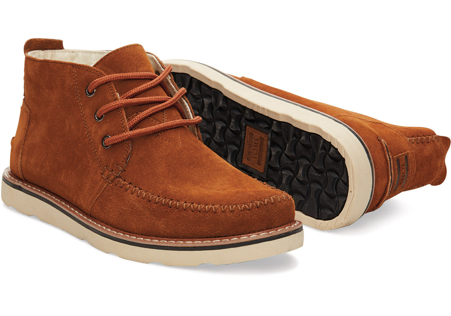 Toms Chestnut Suede Men's Chukka Boots in Brown for Men | Lyst