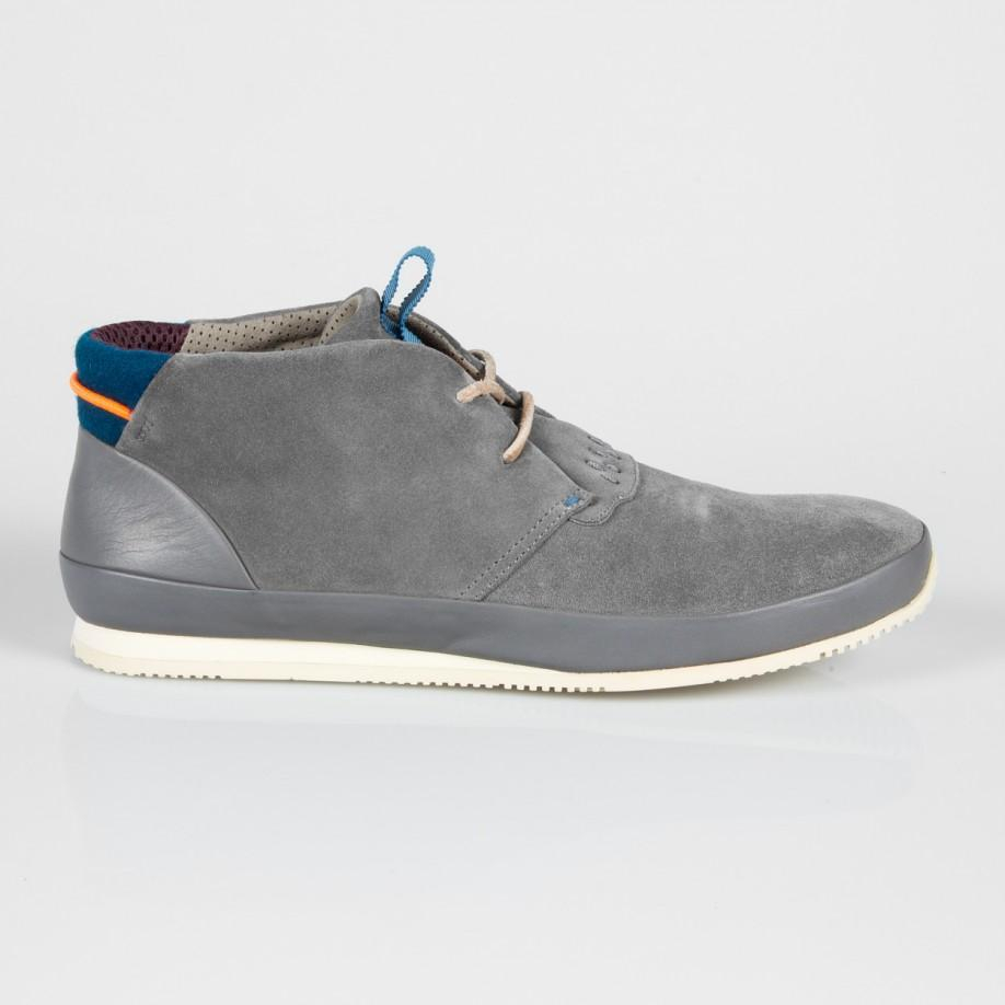 paul smith grey suede bernofsky chukka boots in gray for