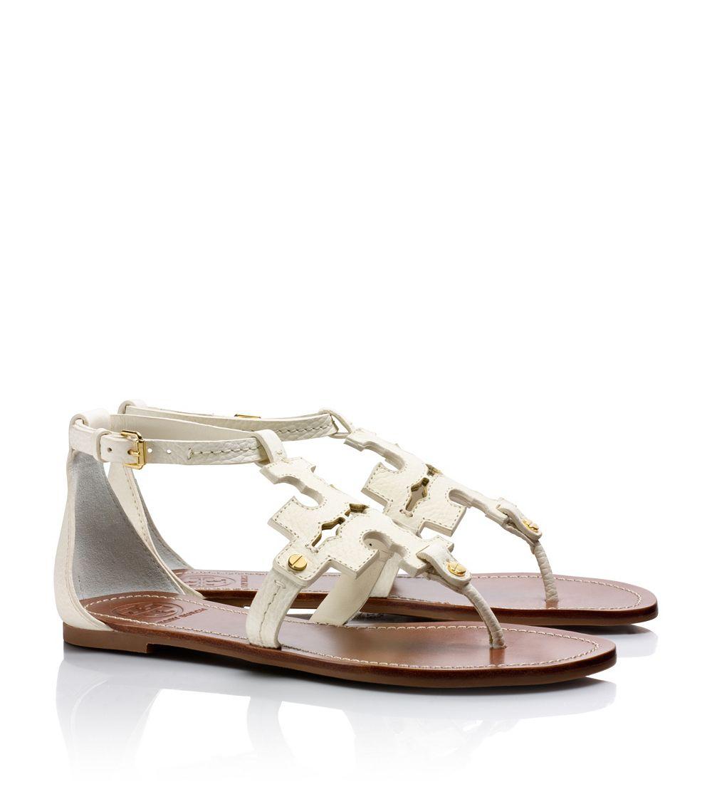 95dc5ad83bfbf Lyst - Tory Burch Phoebe Flat Thong Sandal in White