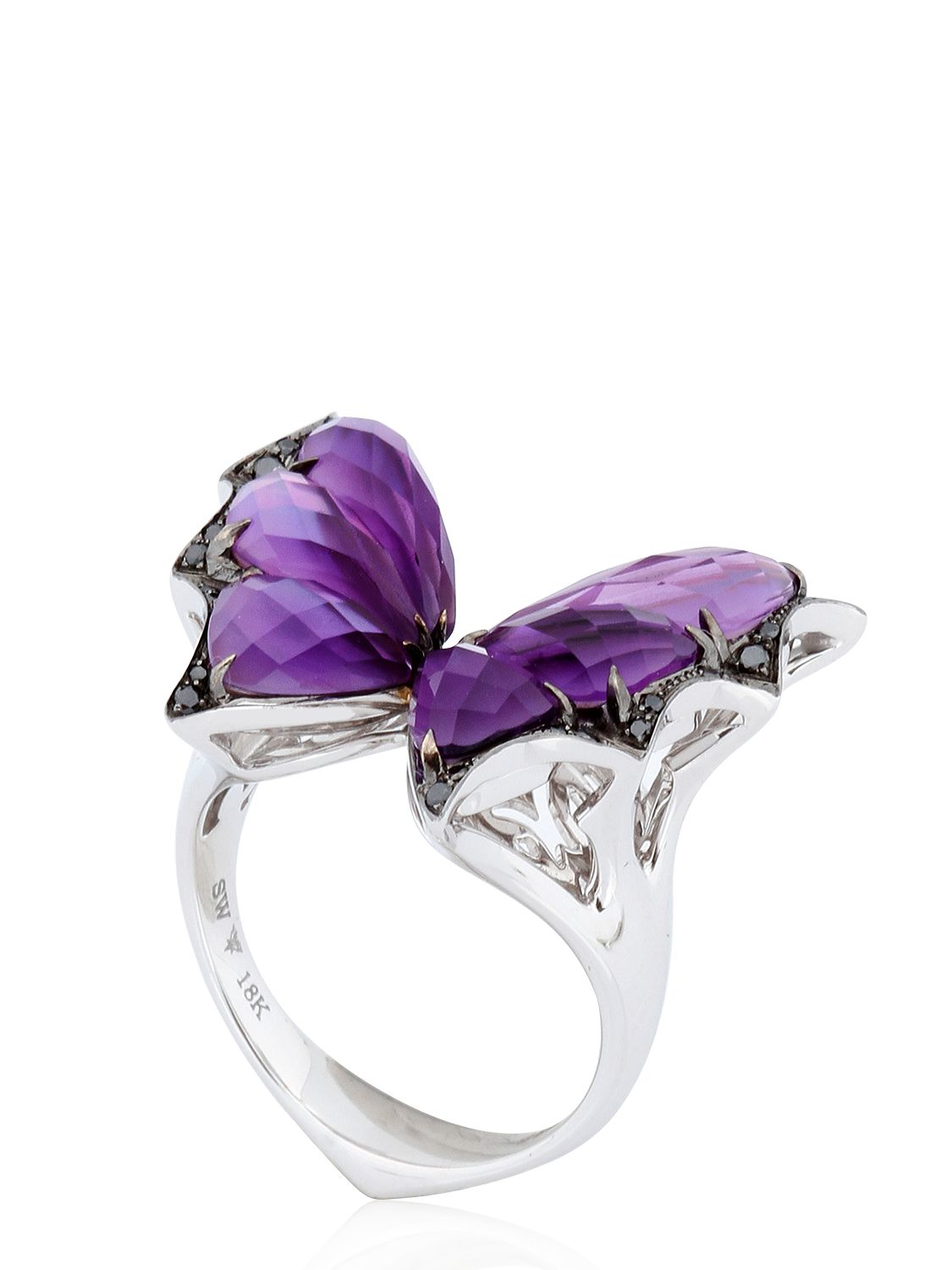7618664c6928 Lyst - Stephen Webster Fly By Night Crystal Haze Ring in Purple