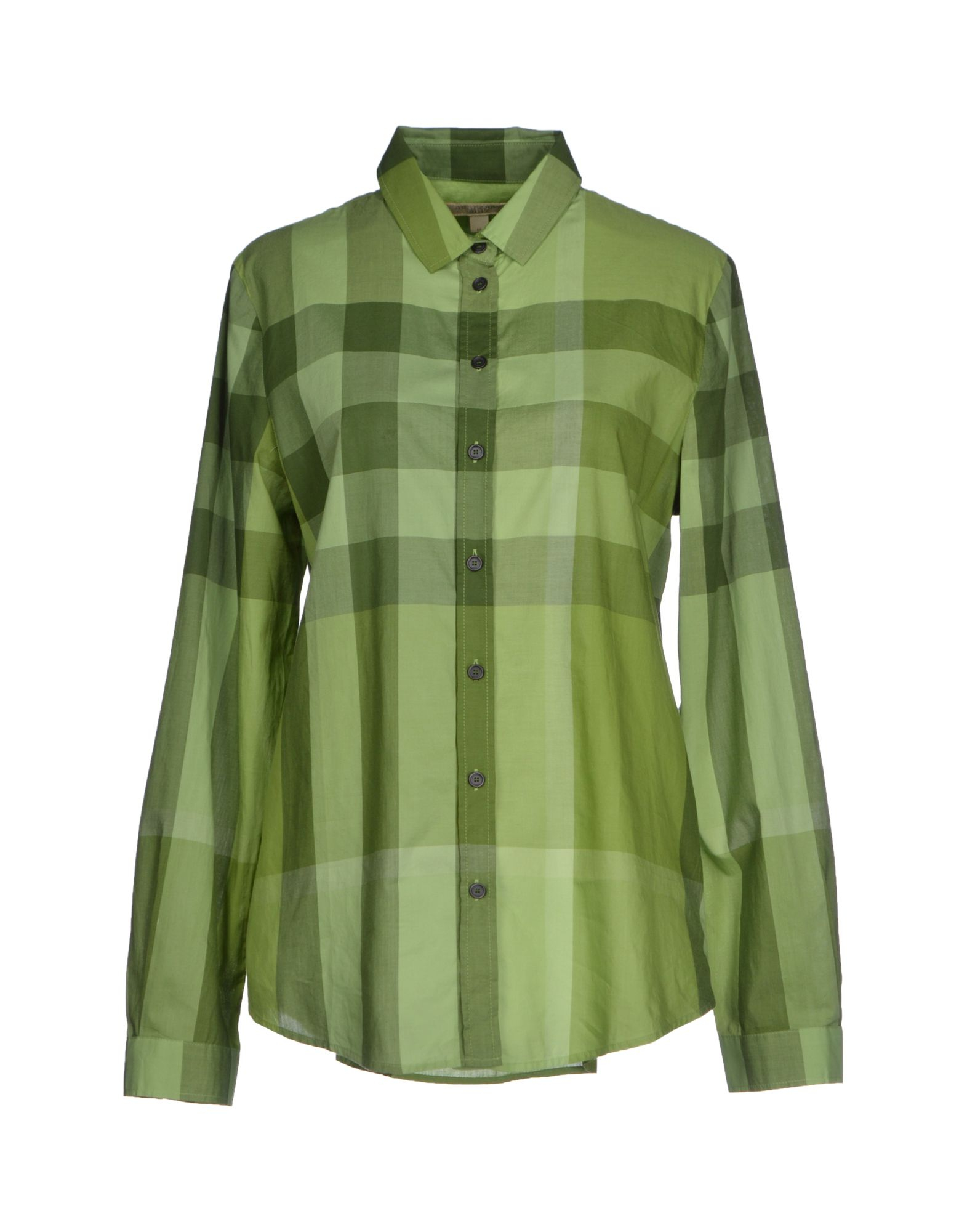 Burberry brit shirt in green lyst for Burberry brit green plaid shirt