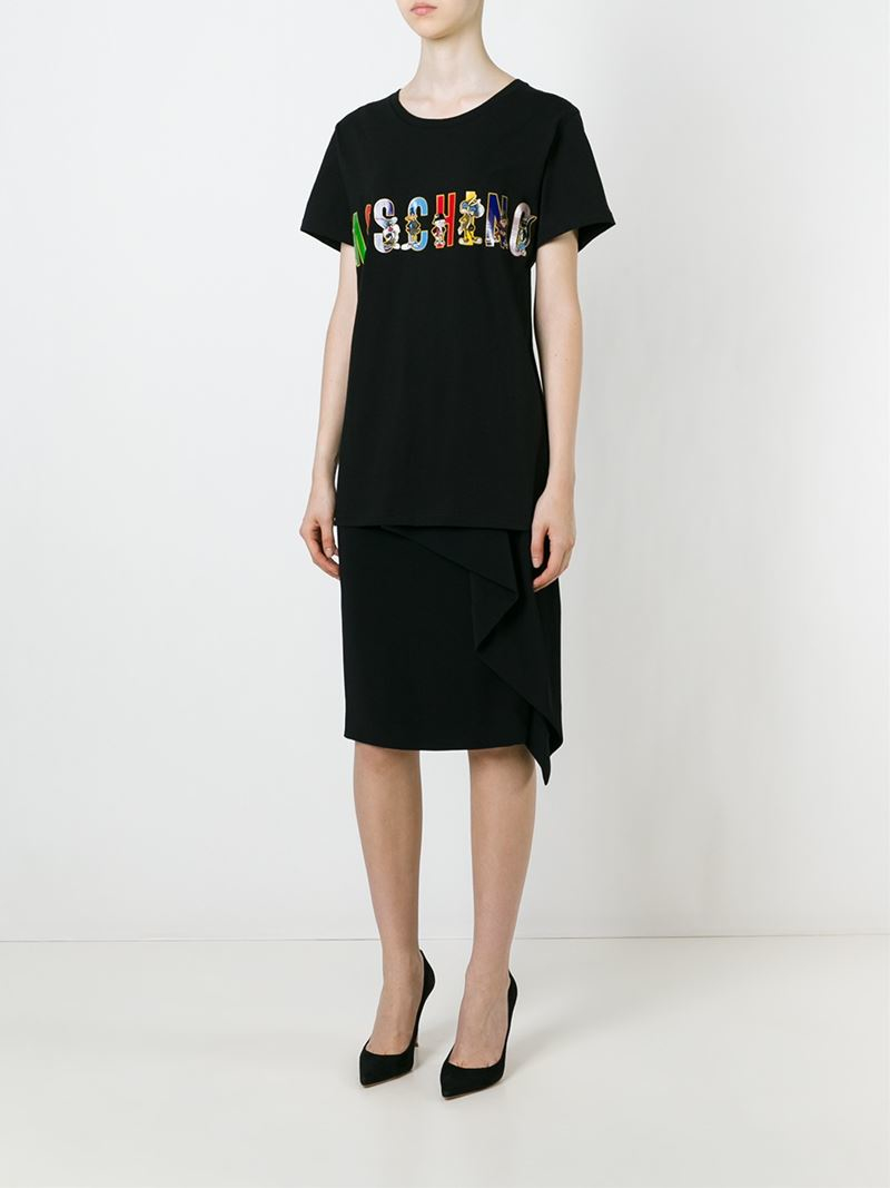 Lyst - Moschino Looney Tunes Logo T-shirt in Black