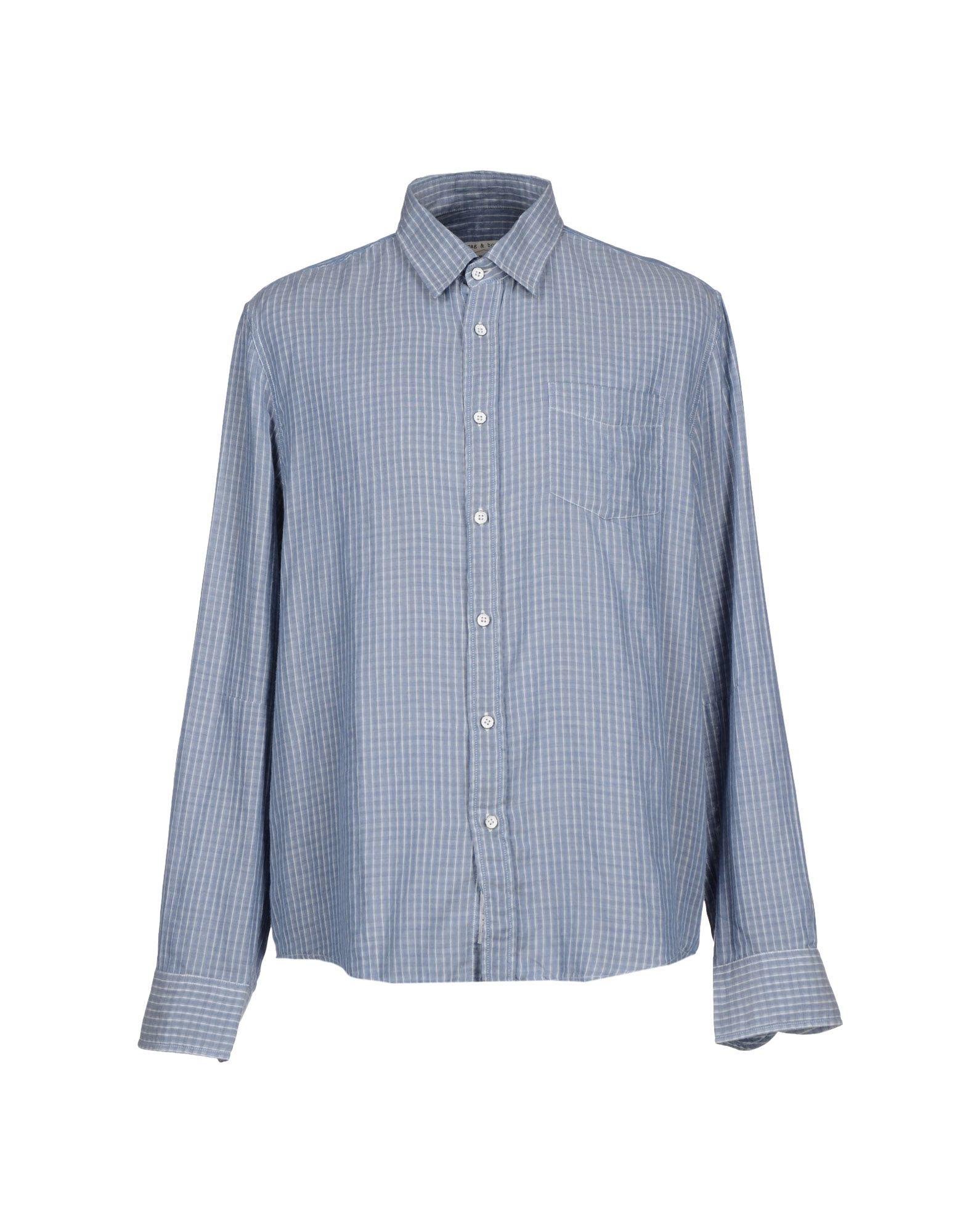 Rag Bone Shirt In Blue For Men Lyst