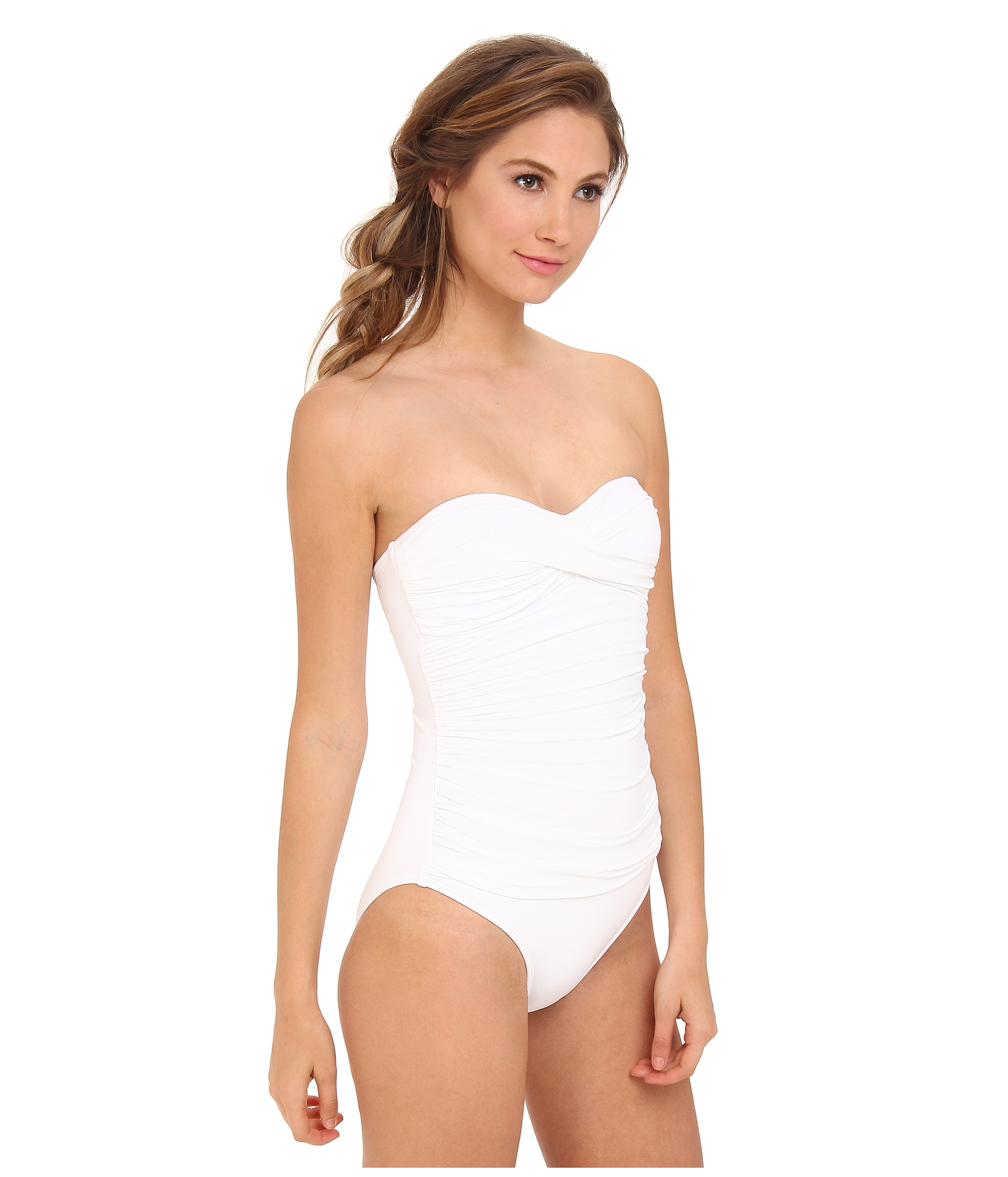 8407f021be La Blanca Island Goddess One Piece Cup Bandeau in White - Lyst