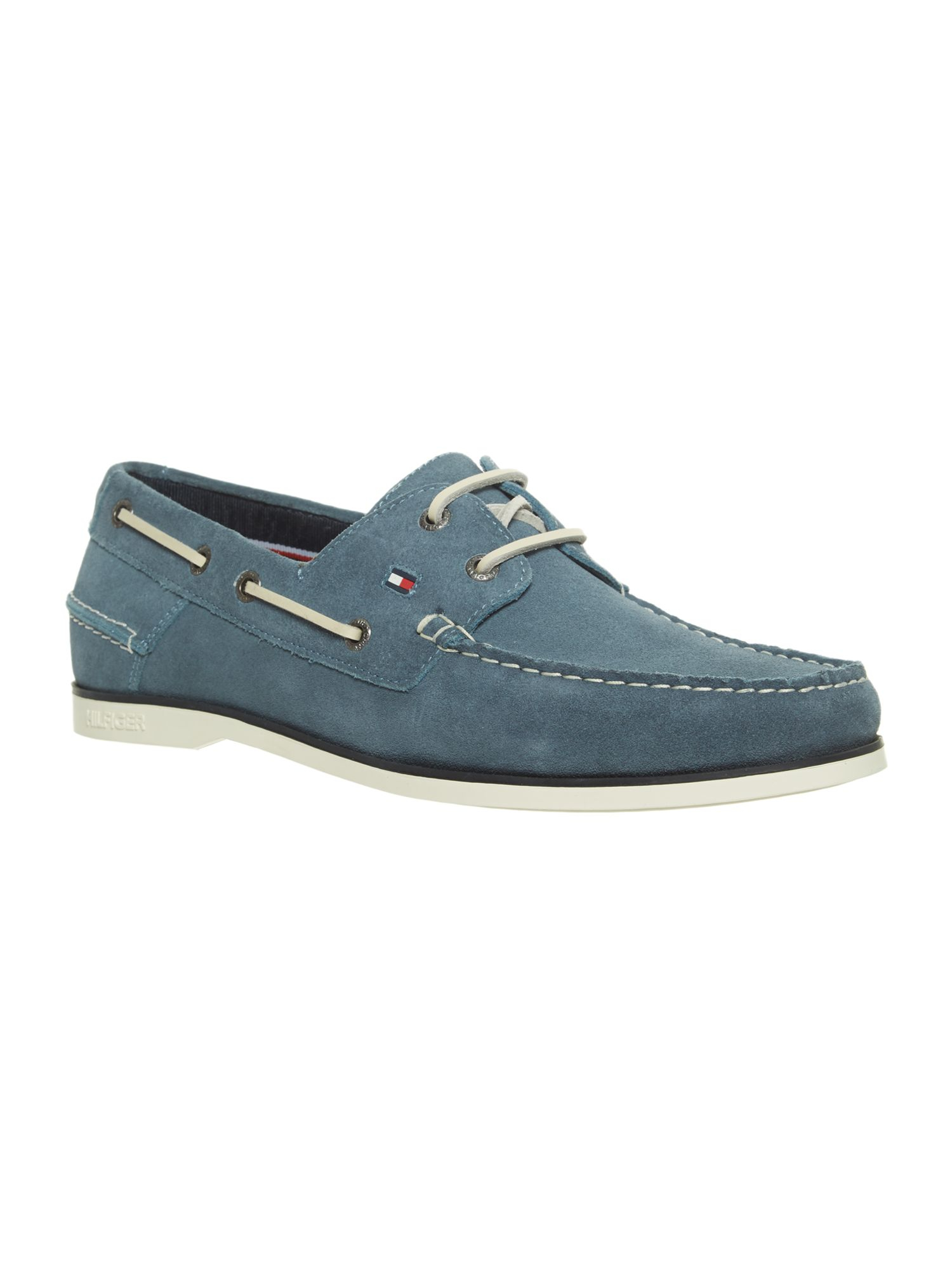 hilfiger classic boat shoes in blue for lyst