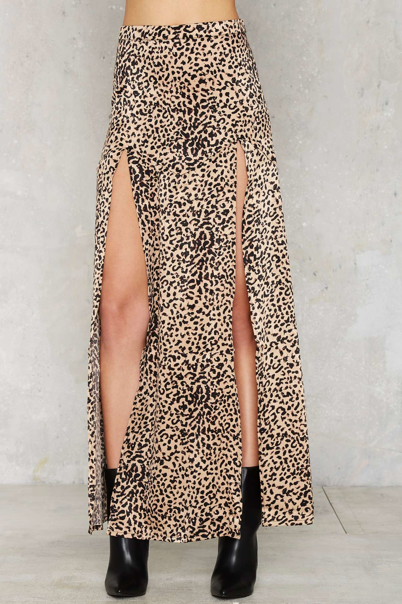 gal cheetahs always win maxi skirt lyst