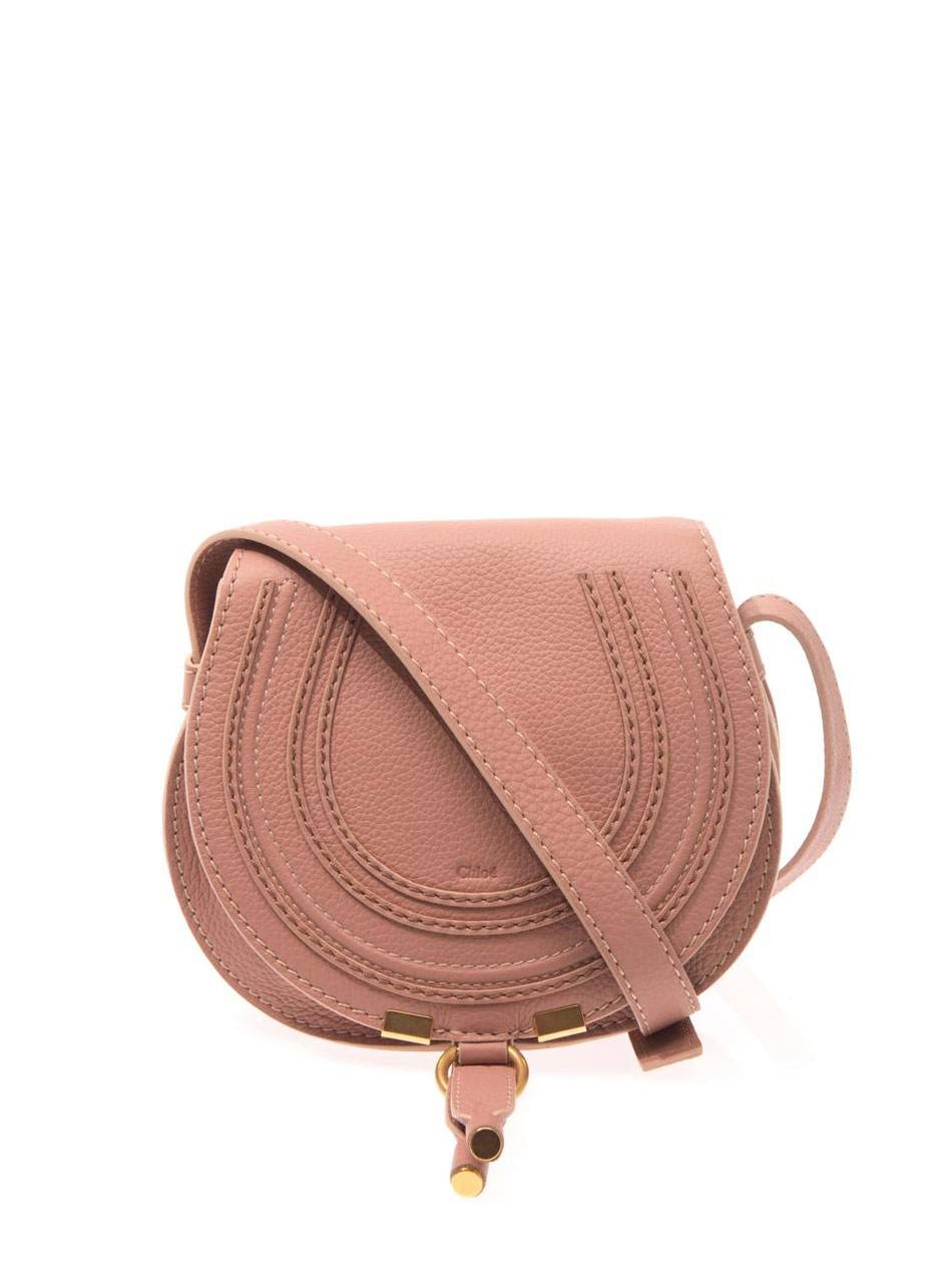 lyst chlo marcie mini cross body bag in pink. Black Bedroom Furniture Sets. Home Design Ideas