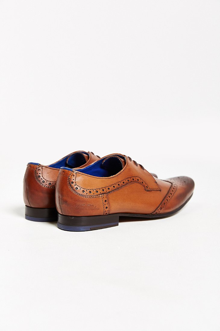 aaefe7282 Lyst - Ted Baker Hann Wingtip Derby Brogues Shoe in Brown for Men
