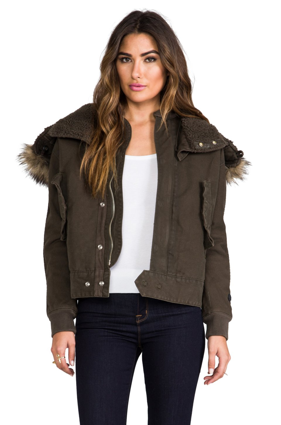 g star raw army flight bomber jacket in olive in green lyst. Black Bedroom Furniture Sets. Home Design Ideas
