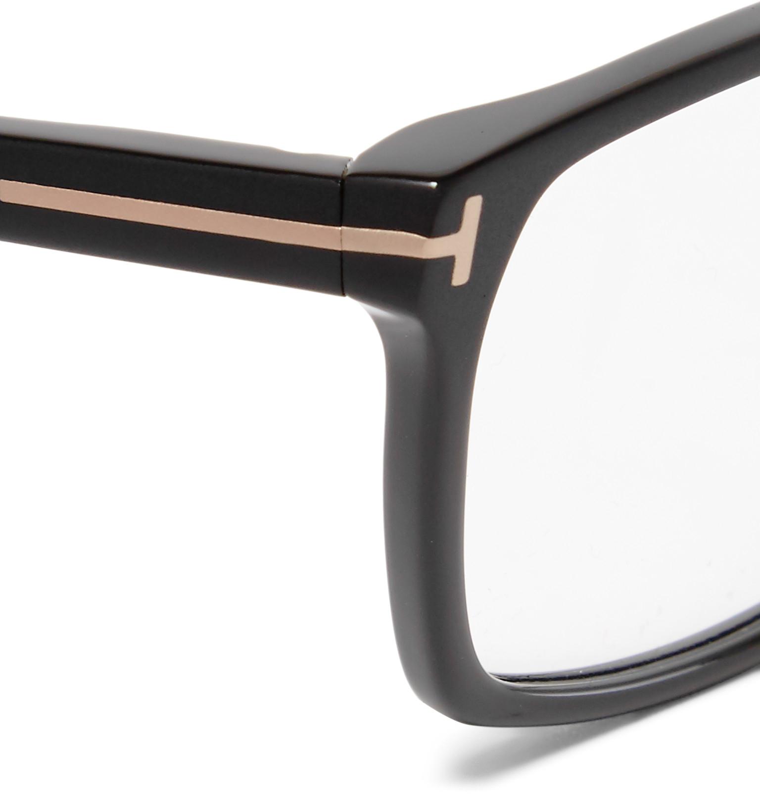 Matte Black Glasses Frame : Tom ford Square-frame Matte-acetate Optical Glasses in ...