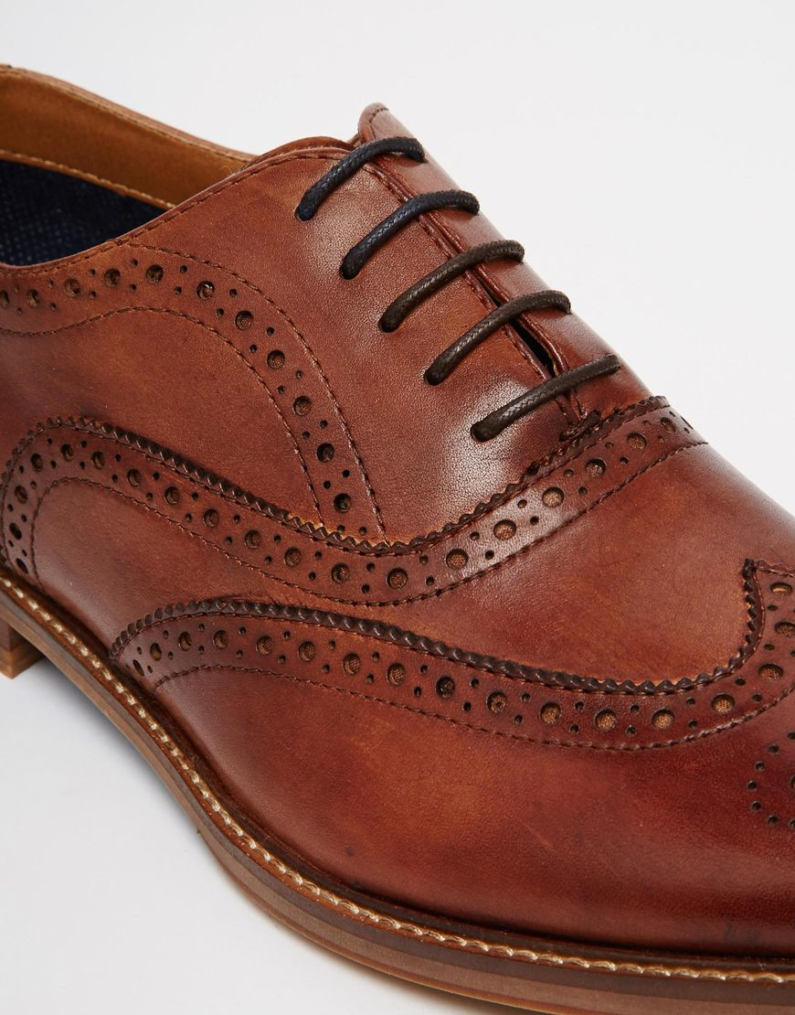 Lyst Aldo Piralle Leather Oxford Brogues In Brown For Men