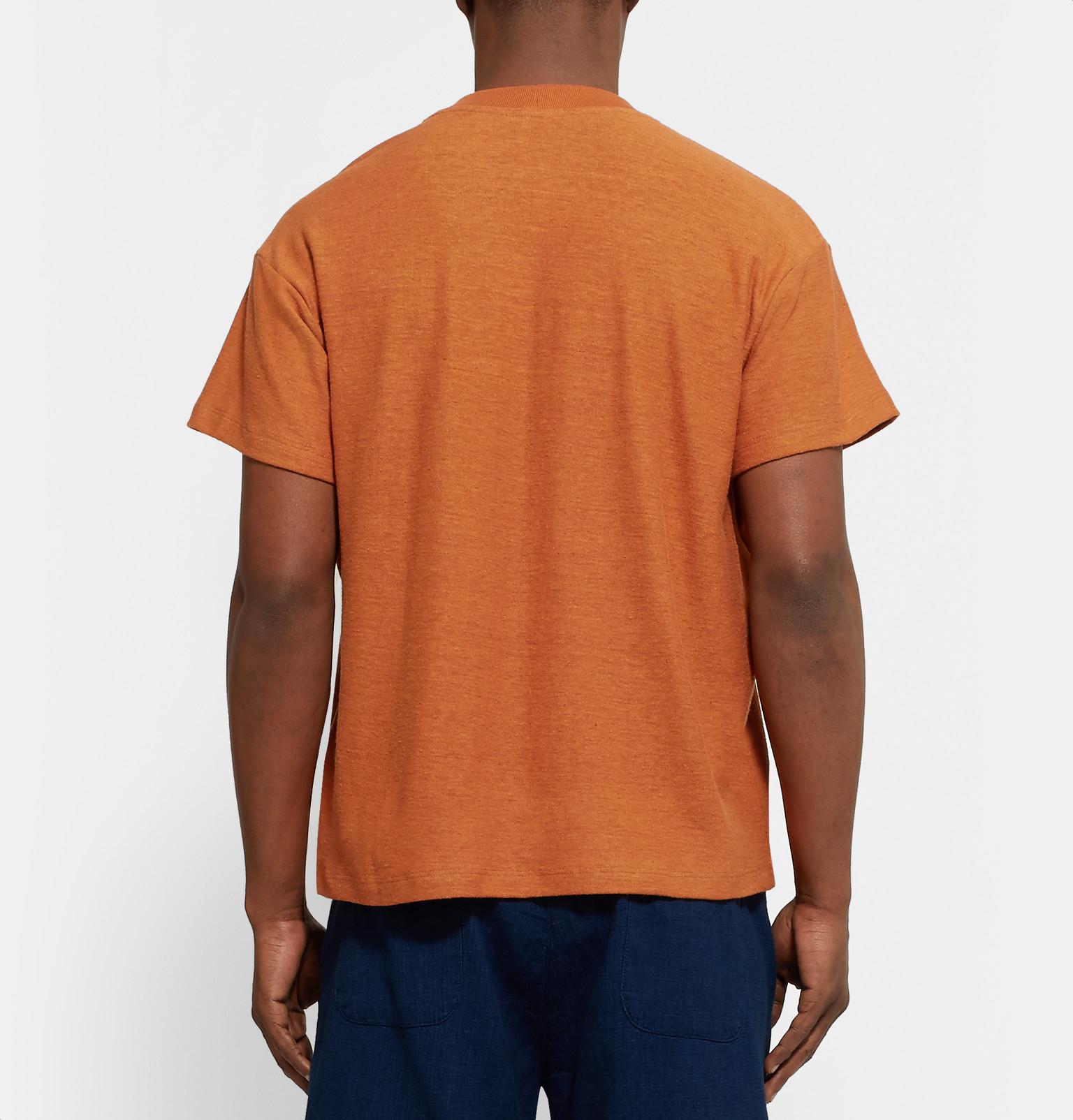 Fanmail slub hemp and organic cotton blend jersey t shirt for Mens hemp t shirts