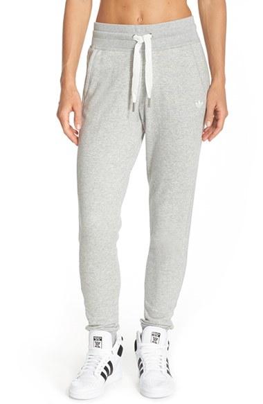 81bffe1c3e43 adidas Originals Slim Cuffed Track Pants in Gray - Lyst