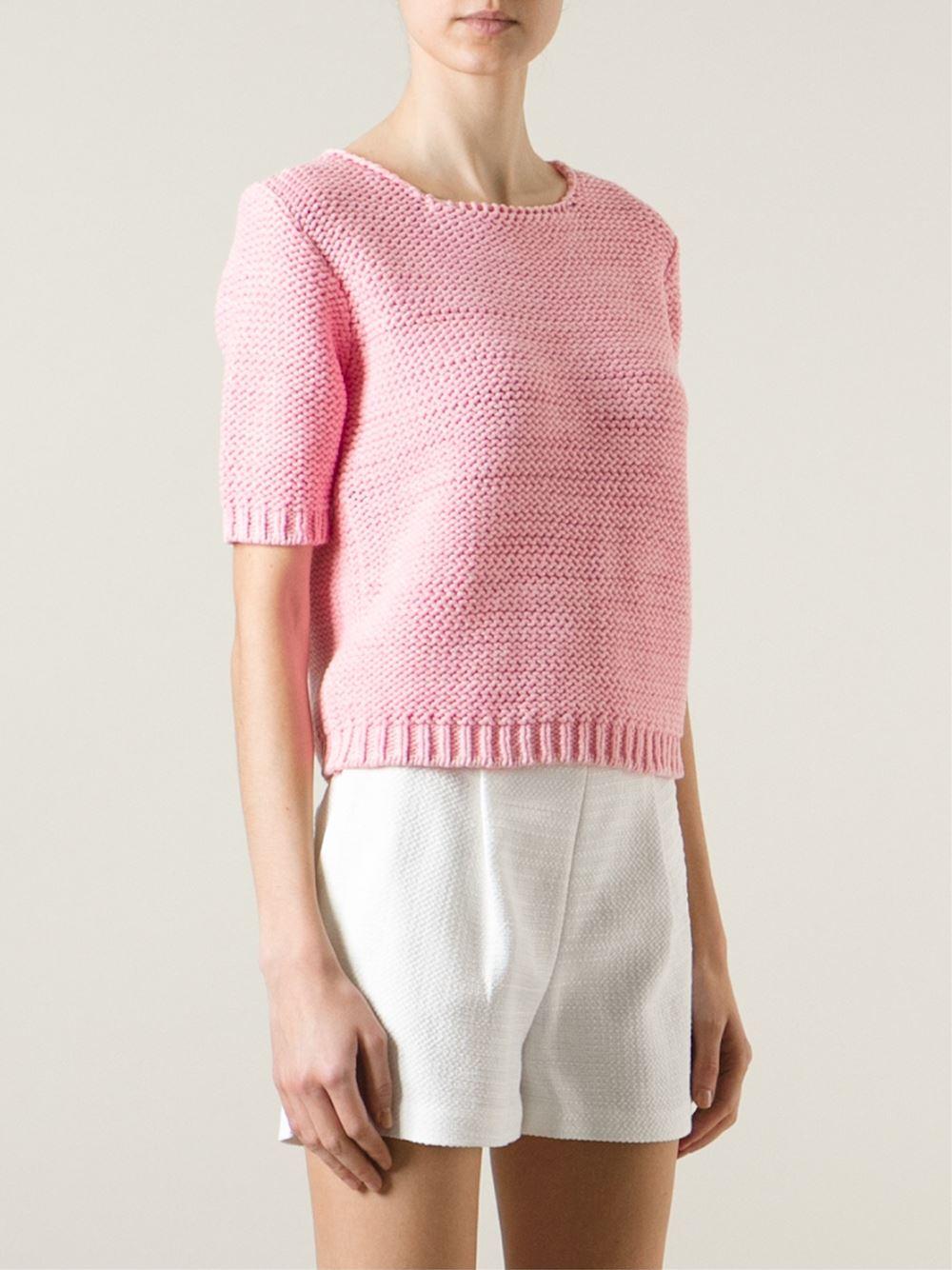 Lala berlin Short Sleeve Sweater in Pink | Lyst