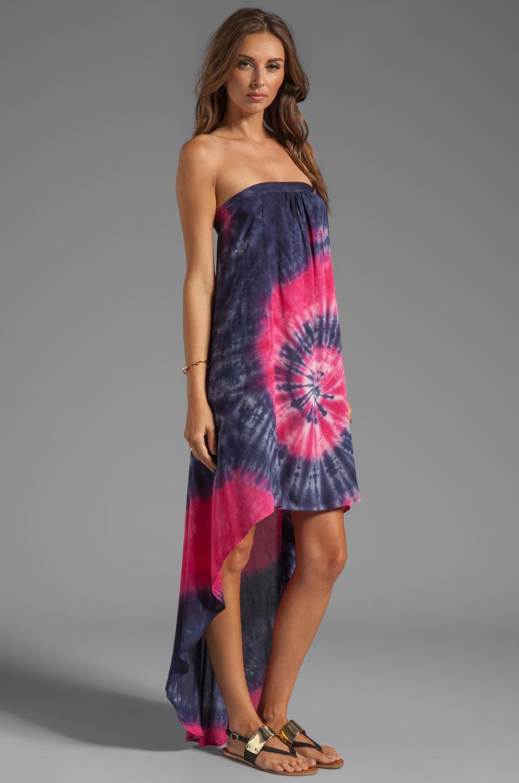 Lyst Blu Moon Open Back Tube Dress In Pink In Blue