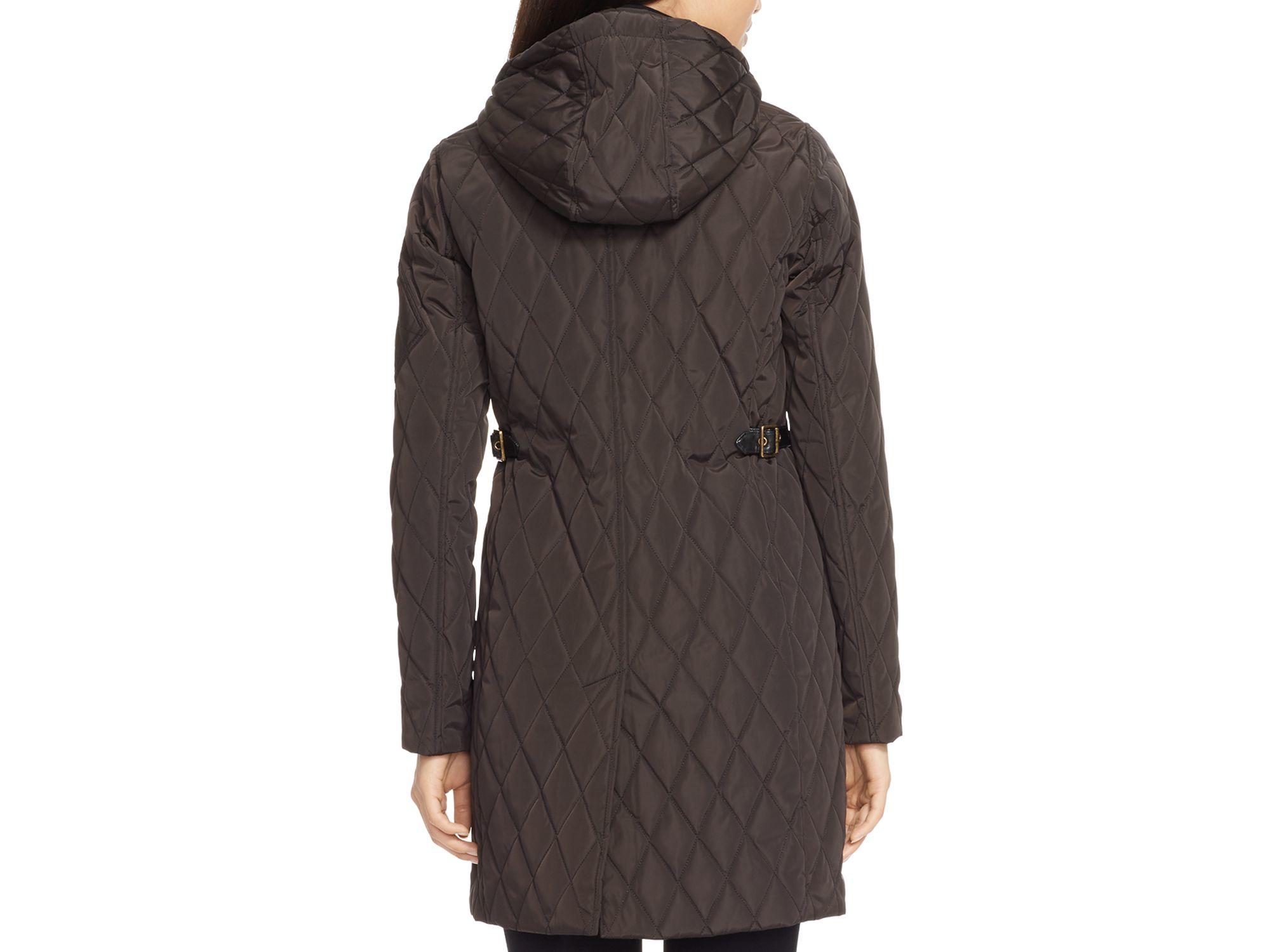 Lyst Ralph Lauren Lauren Quilted Hooded Jacket In Black
