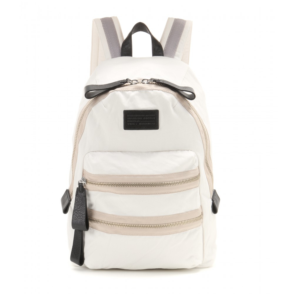 lyst marc by marc jacobs domo arigato backpack in white. Black Bedroom Furniture Sets. Home Design Ideas