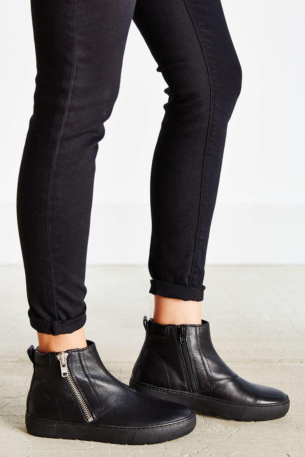 vagabond bree flatform ankle boot in black lyst. Black Bedroom Furniture Sets. Home Design Ideas