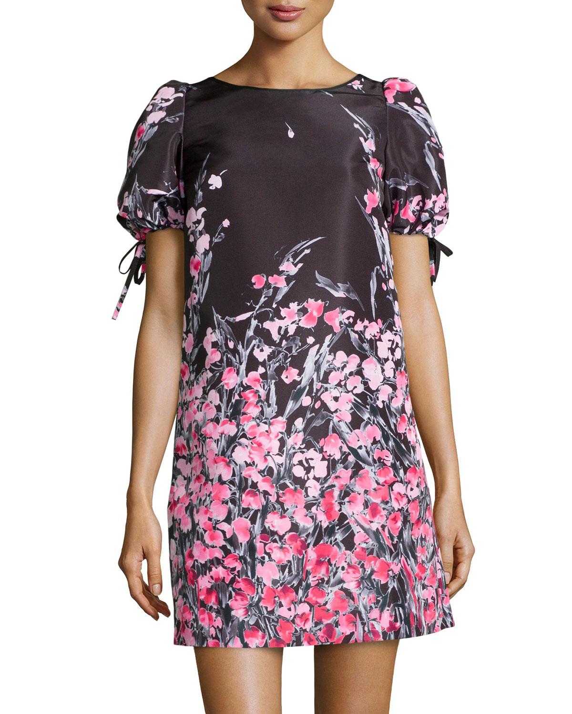 a87f076b948 Lyst - RED Valentino Floralprint Taffeta Shift Dress in Pink