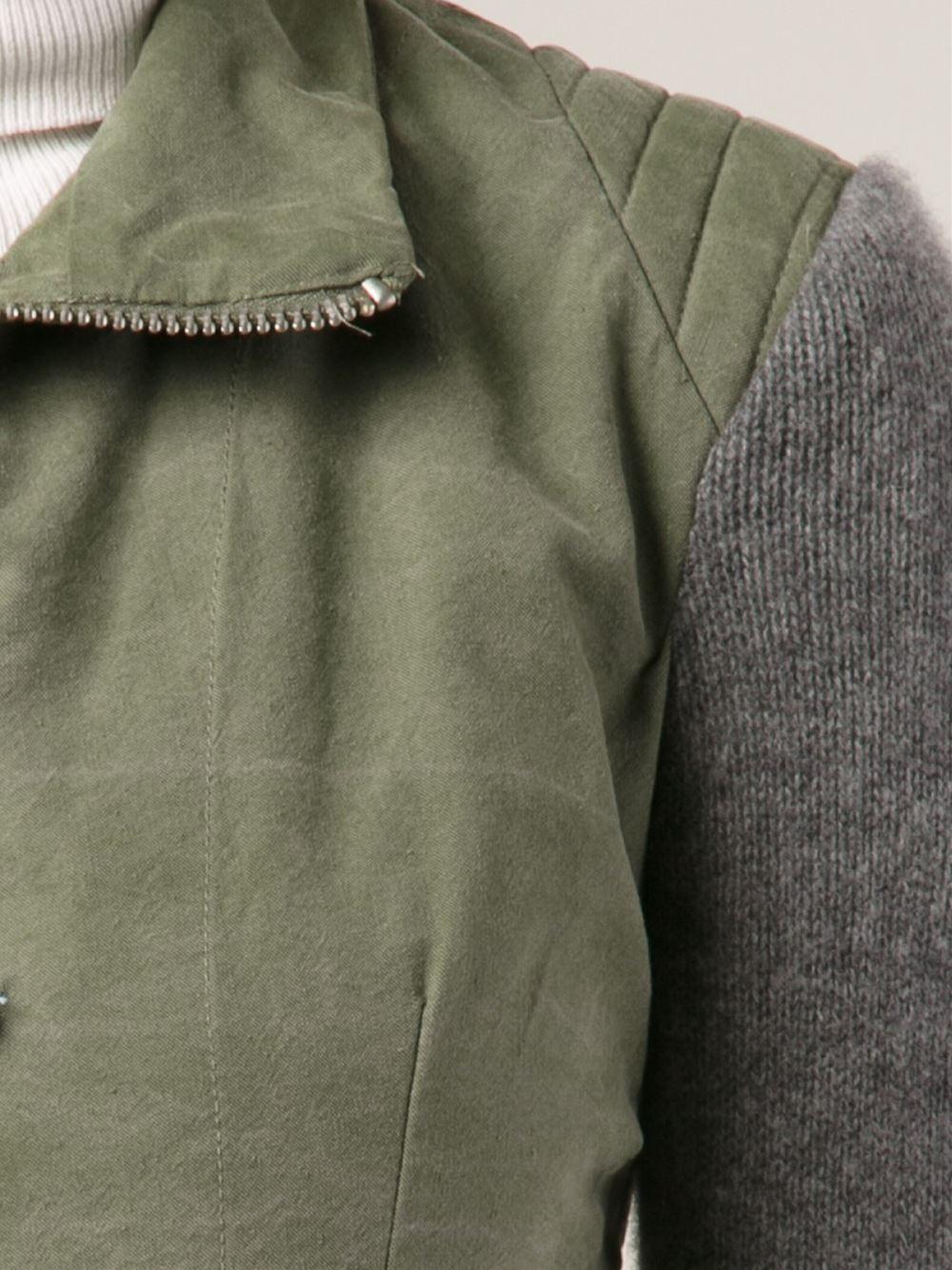 Greg lauren Fitted Jacket in Green | Lyst