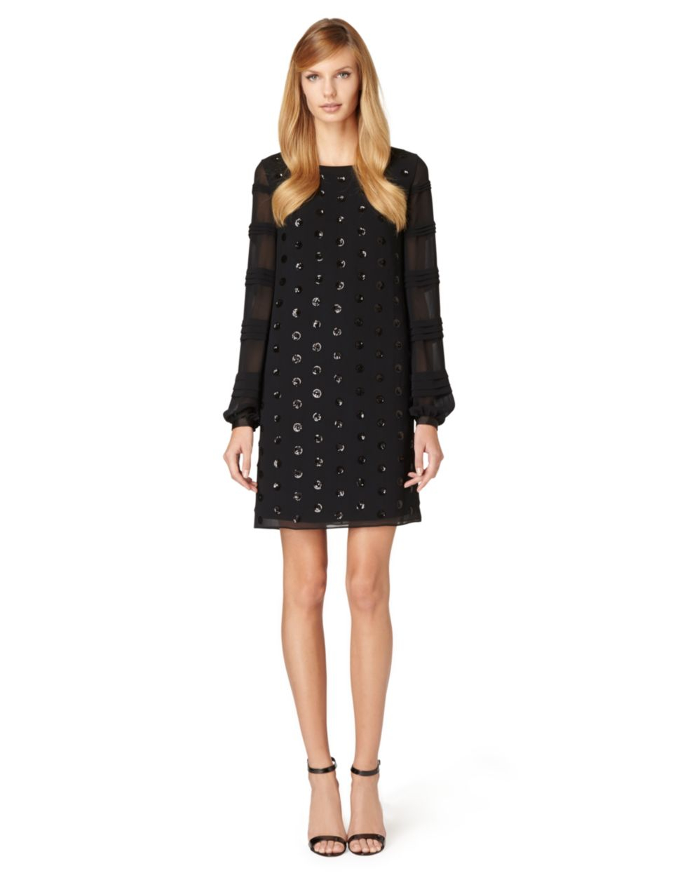 Erin Fetherston Cybill Polka Dot Shift Dress In Black Lyst