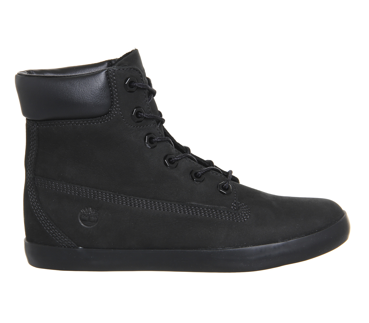 timberland glastenbury 6 inch leather boots in black lyst