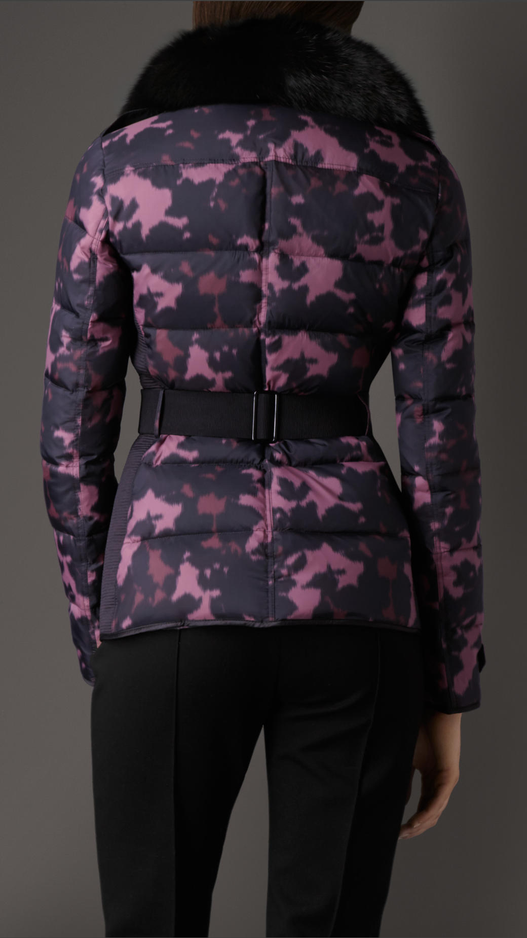 Lyst - Burberry Showerproof Puffer Jacket With Fox Fur ...