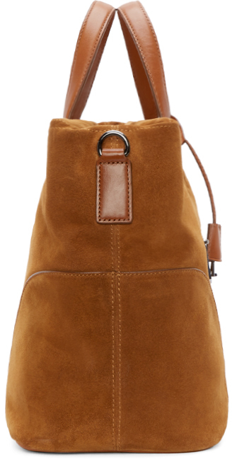 Marc by marc jacobs Tan Suede Tony Weekender Bag in Brown | Lyst